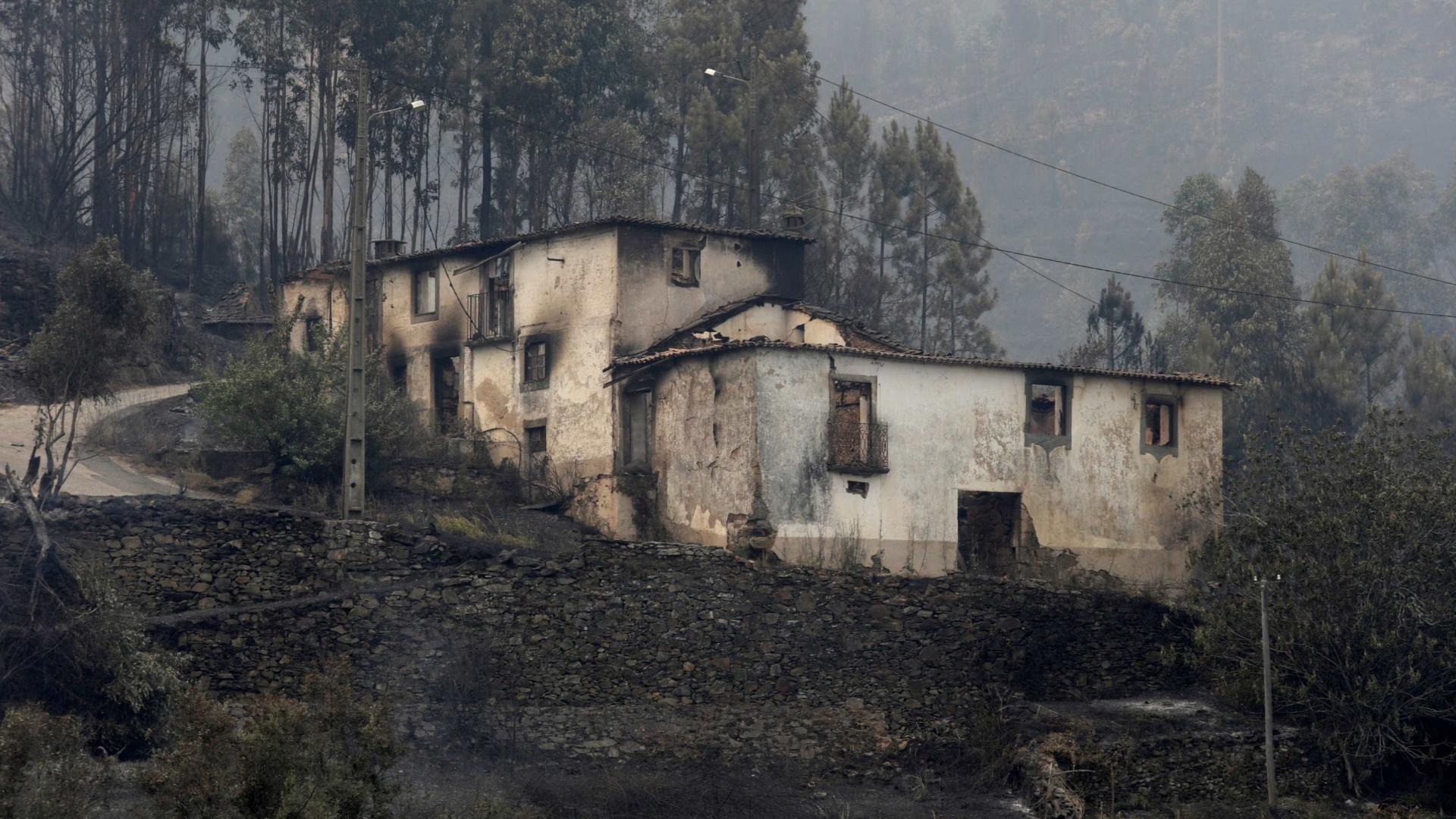 Número de casas afetadas em Pedrógão Grande sobe para 90