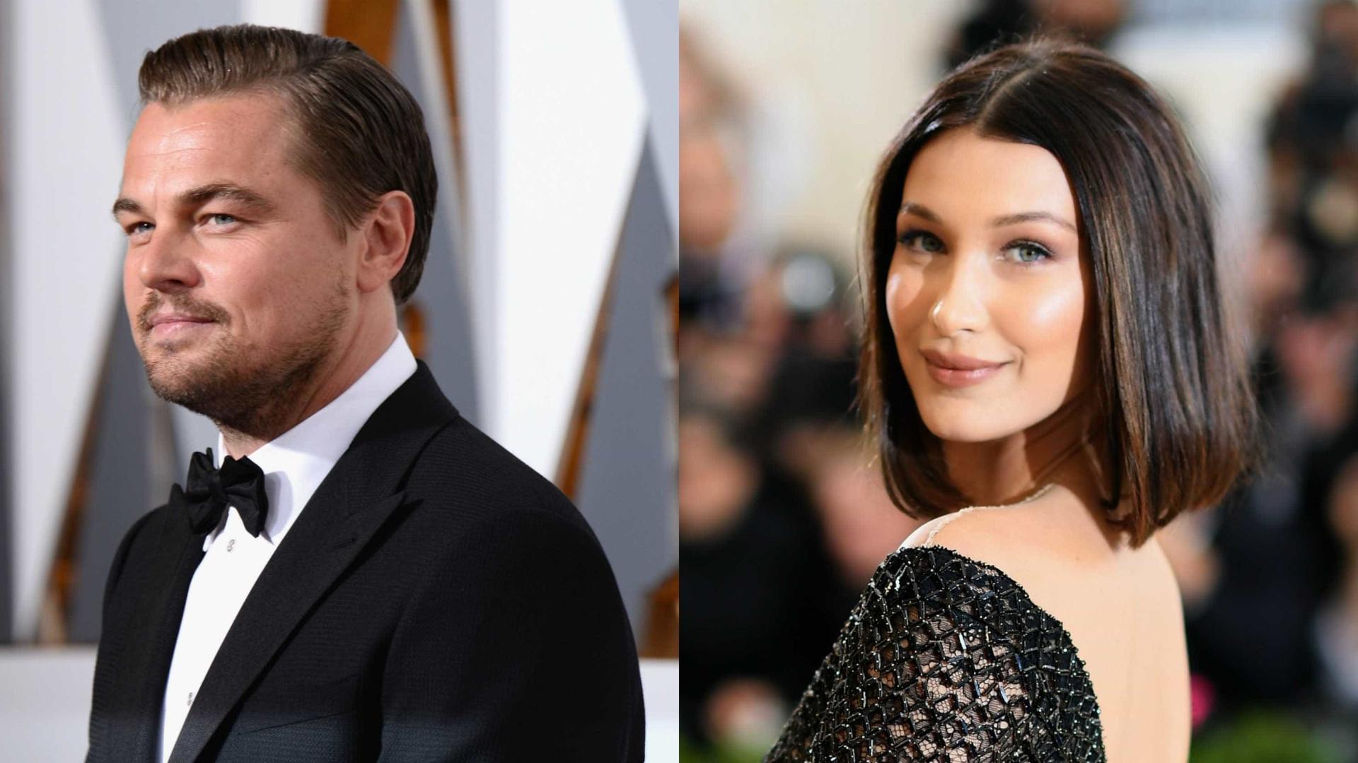 DiCaprio ofereceu lingerie a Bella Hadid. Ela chamou-o de velho