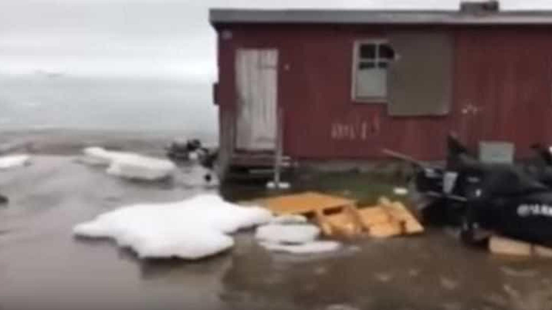Greenland atingida por blocos de gelo em possível tsunami