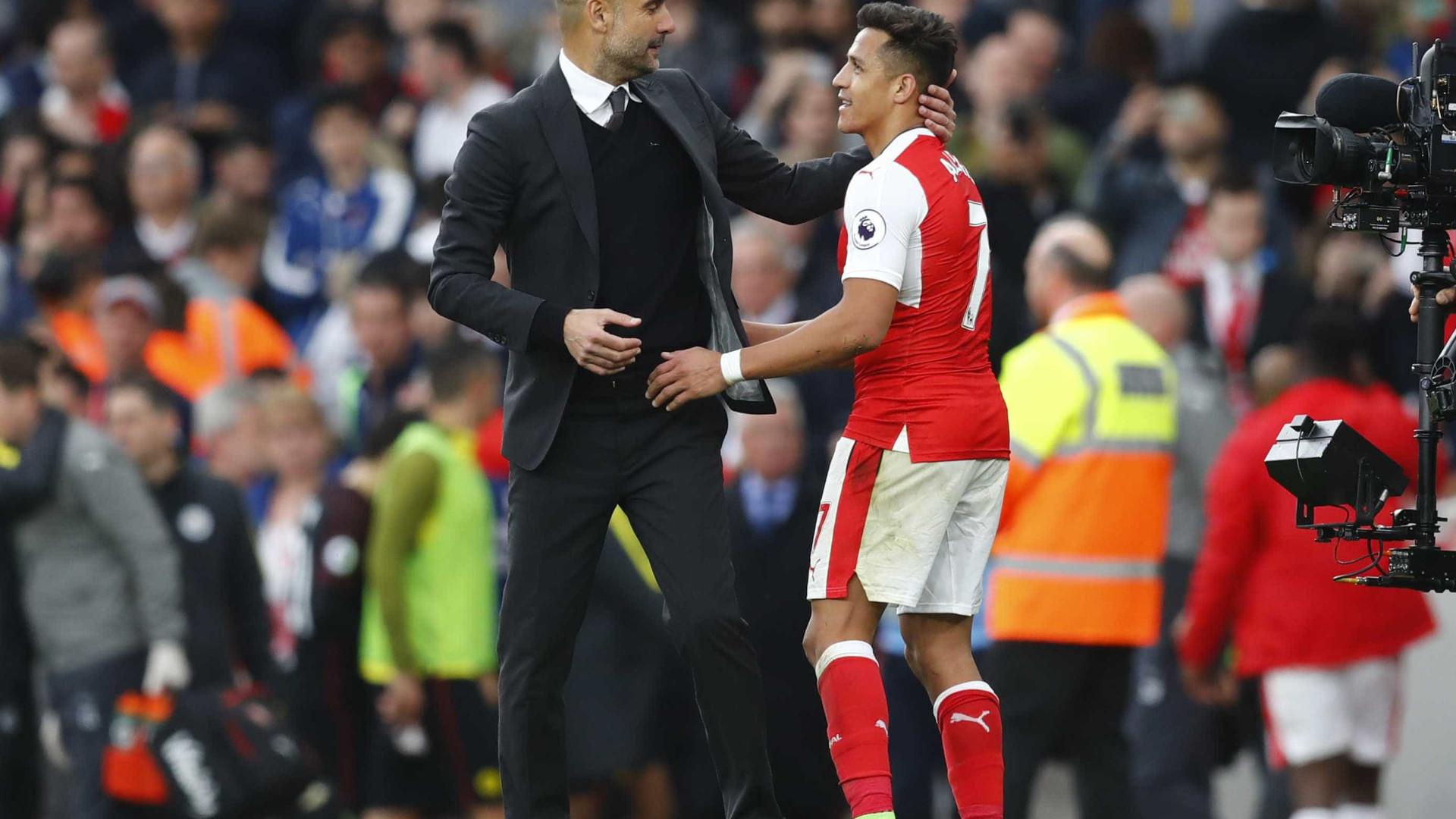 Guardiola prefere Alexis Sánchez a Aubameyang