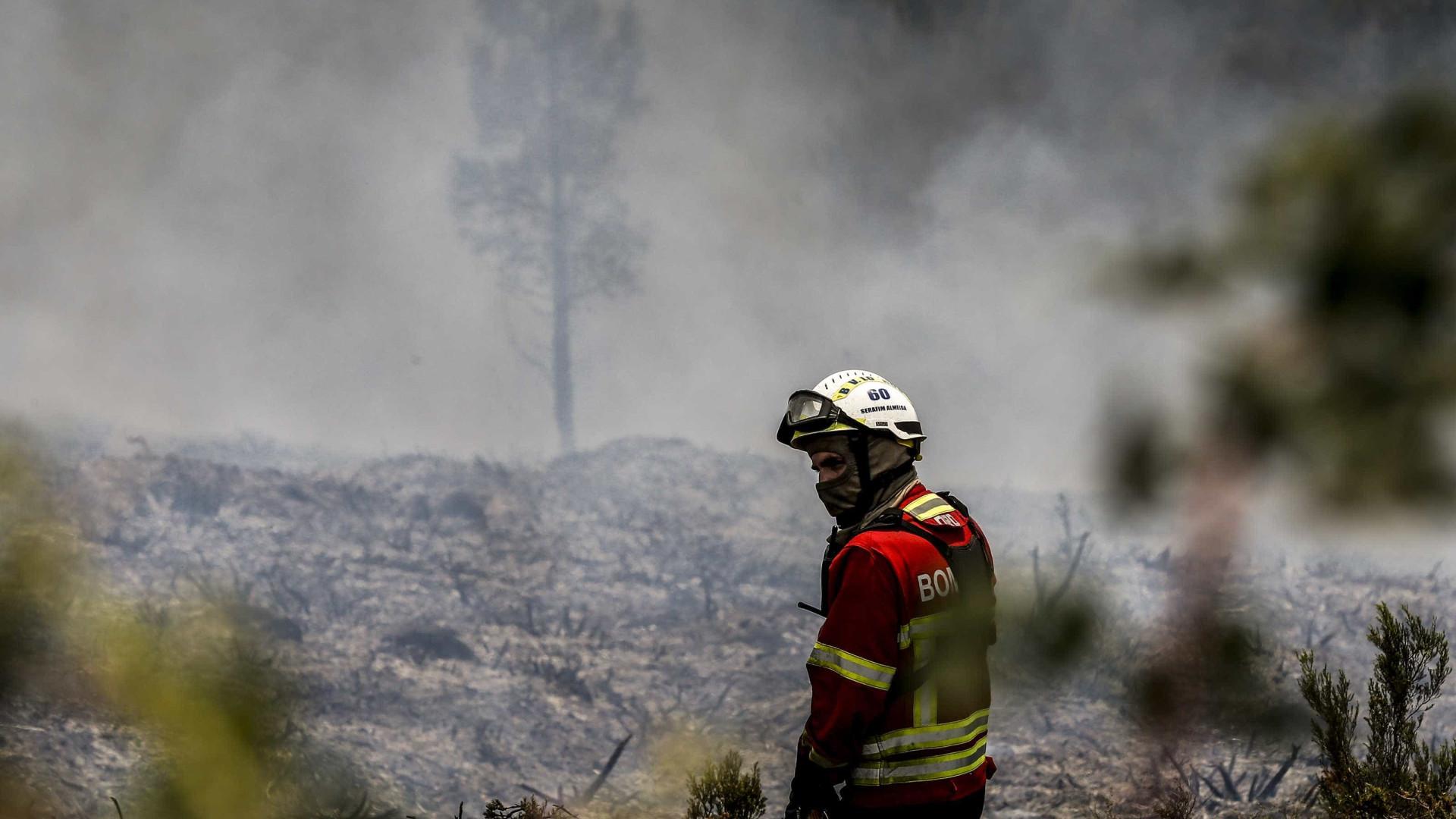 Dezassete concelhos de cinco distritos estão em risco máximo de incêndio