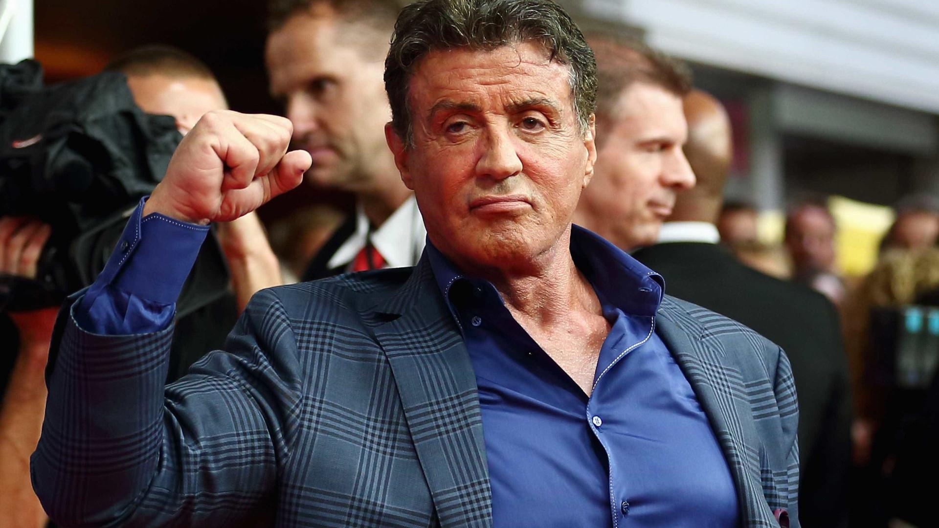 Aos 71 anos, Sylvester Stallone treina como se 'não houvesse amanhã'