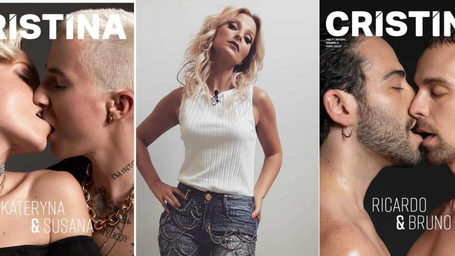 Orgulho gay: Nova capa da revista 'Cristina' contra o preconceito