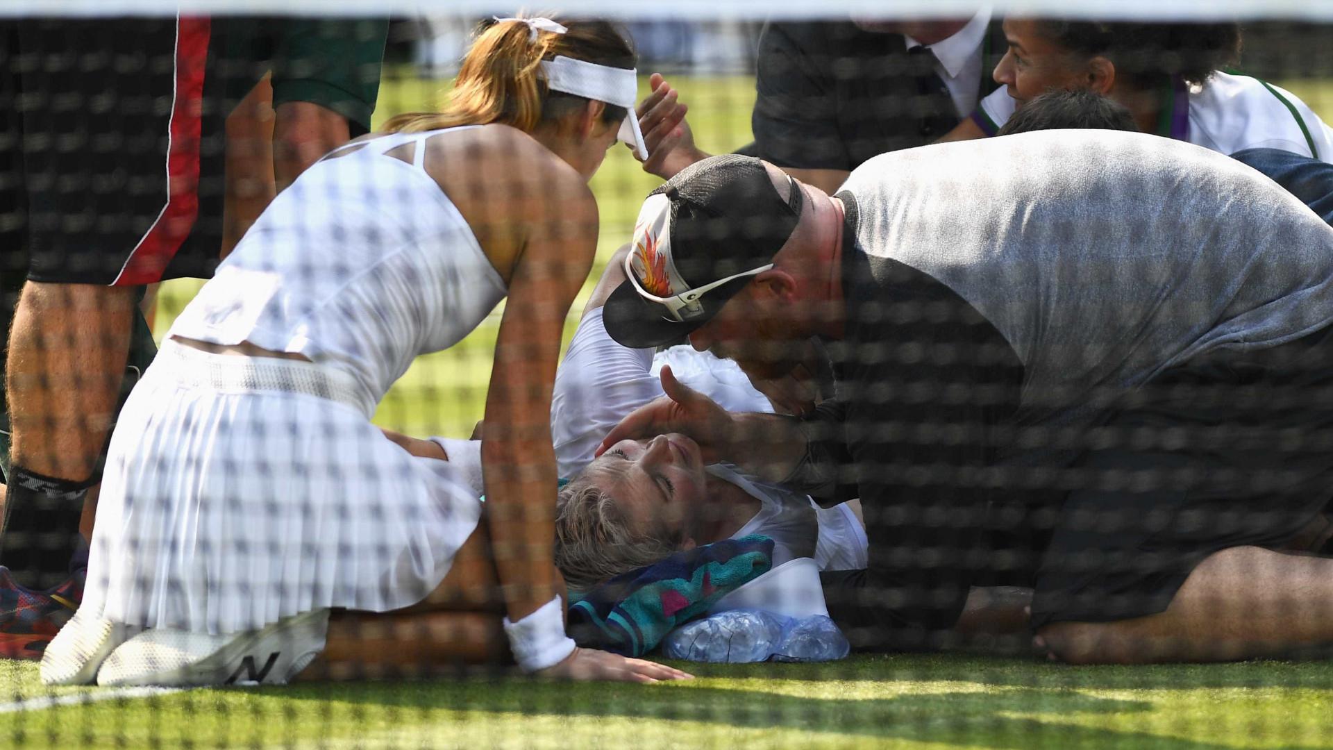Wimbledon: A lesão arrepiante de Mattek-Sands que a fez gritar por ajuda