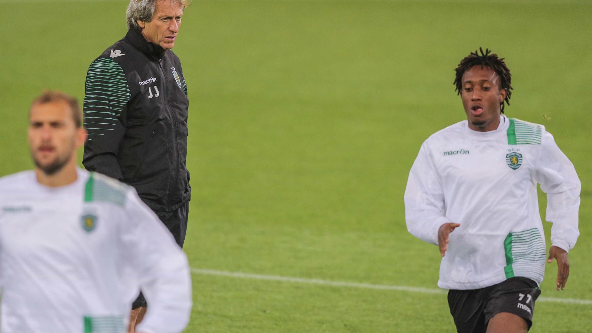 Sporting: Jesus leva 29 para a Suíça, incluindo Jovane Cabral
