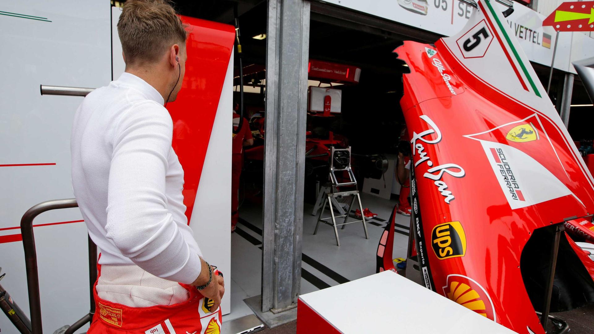 Vettel testou escudo de proteção e não gostou: