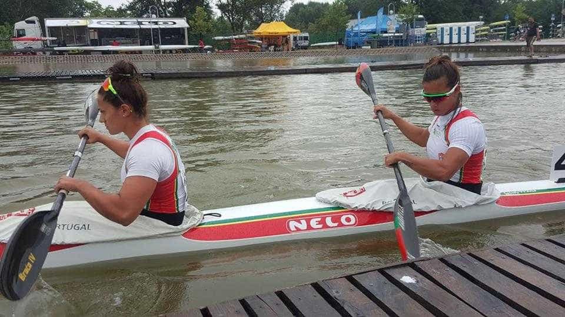 Canoagem: Joana Vasconcelos e Francisca Laia conquistam medalha de prata