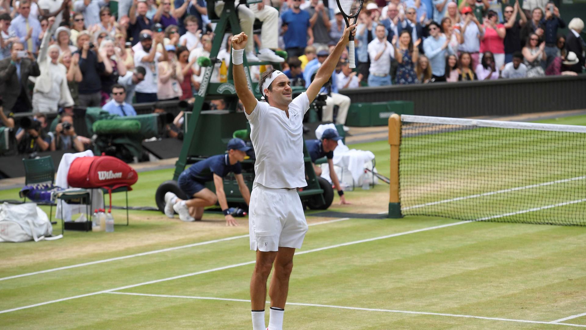 Federer conquista título de Wimbledon pela 8ª vez