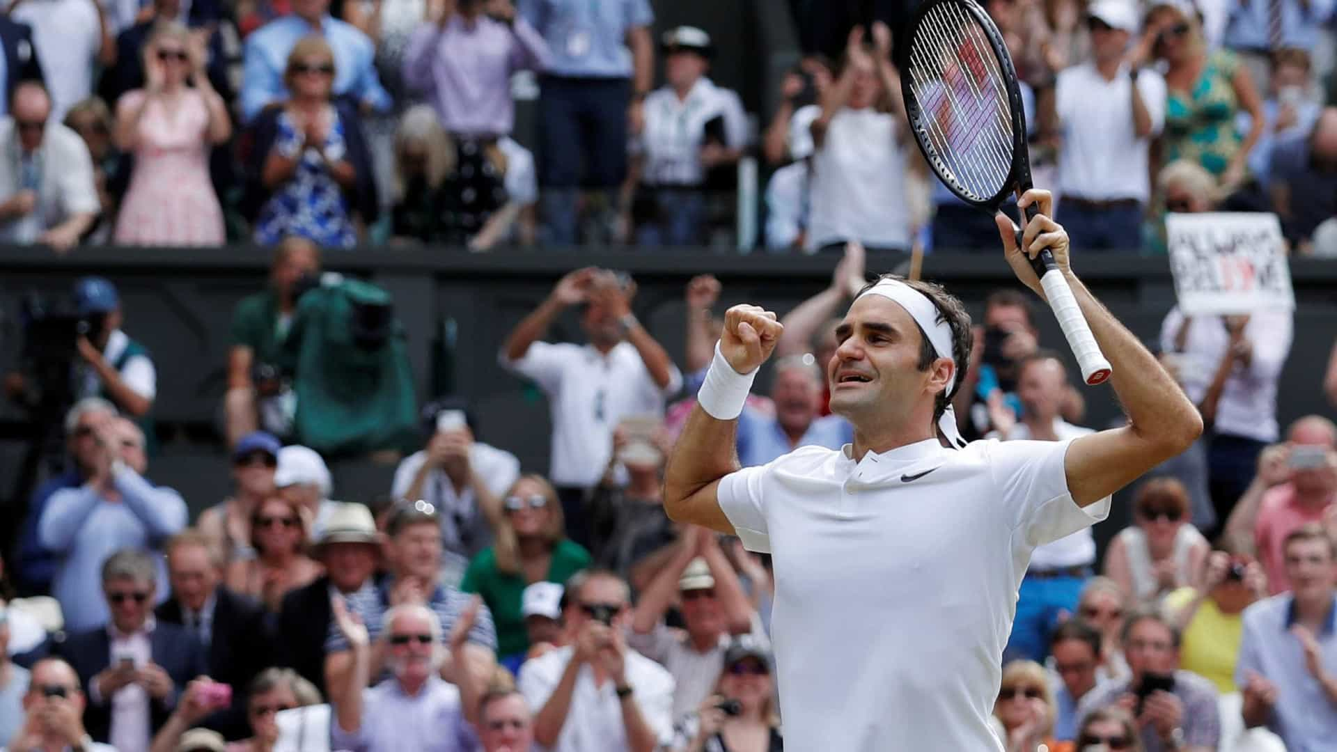 Uma vitória histórica que terminou em lágrimas: Federer continua o legado