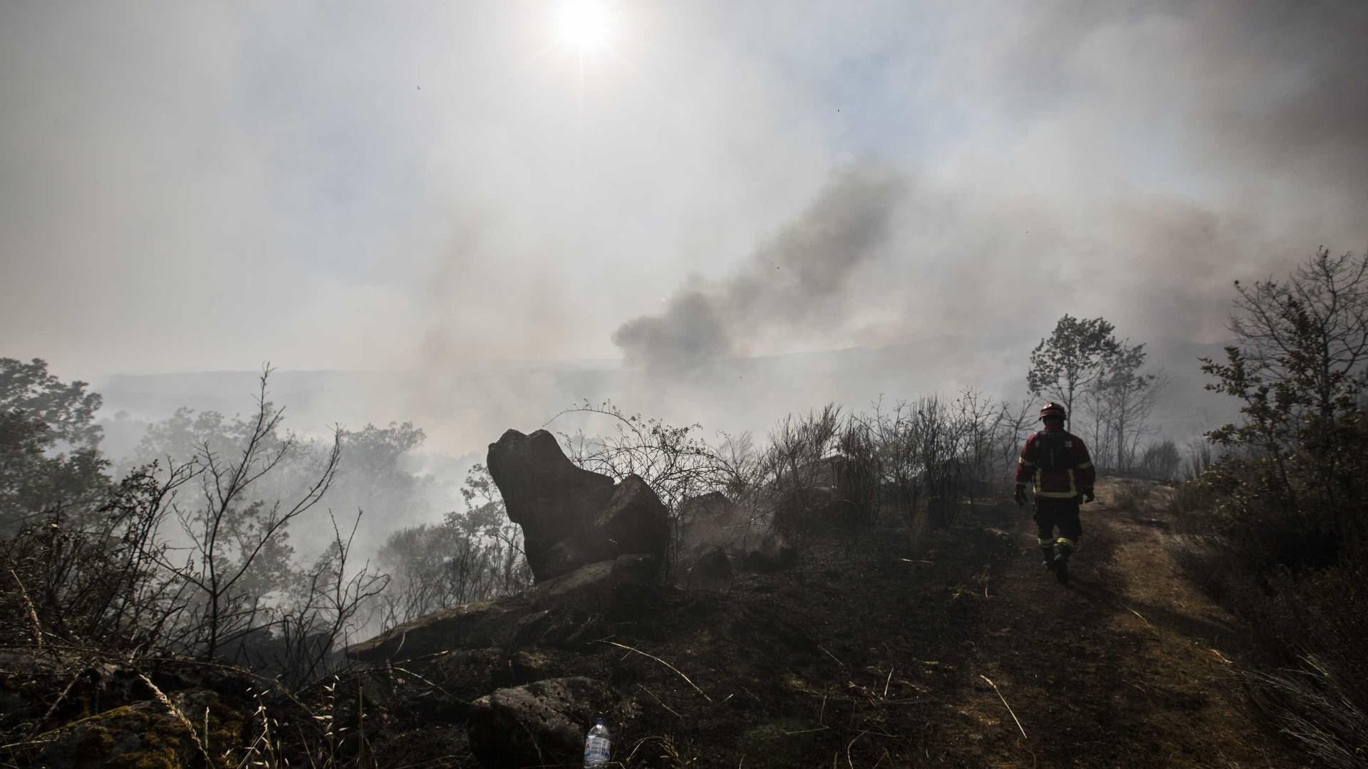 Fogo de Alijó aproxima-se de casas em Vila Chã e assusta população