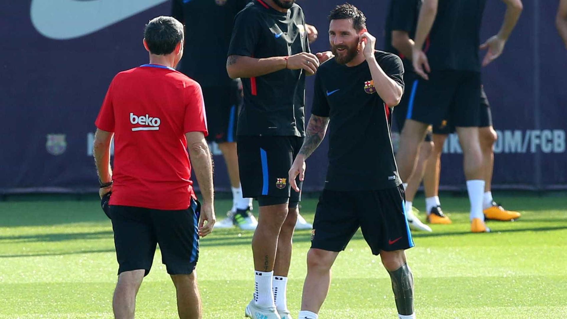 """""""Ter Messi do meu lado é um alívio"""""""