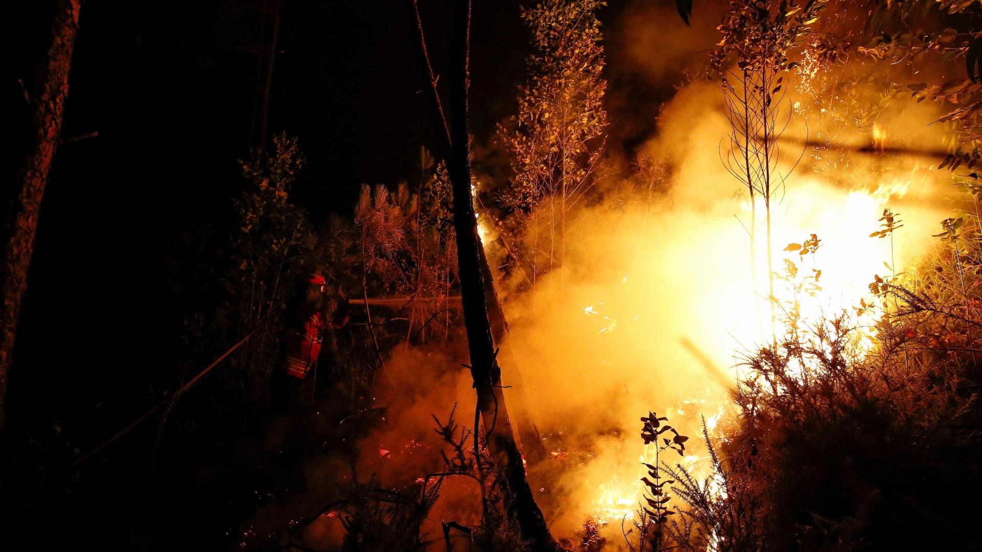 Cerca de 120 bombeiros e 40 militares reforçam combate em Alijó