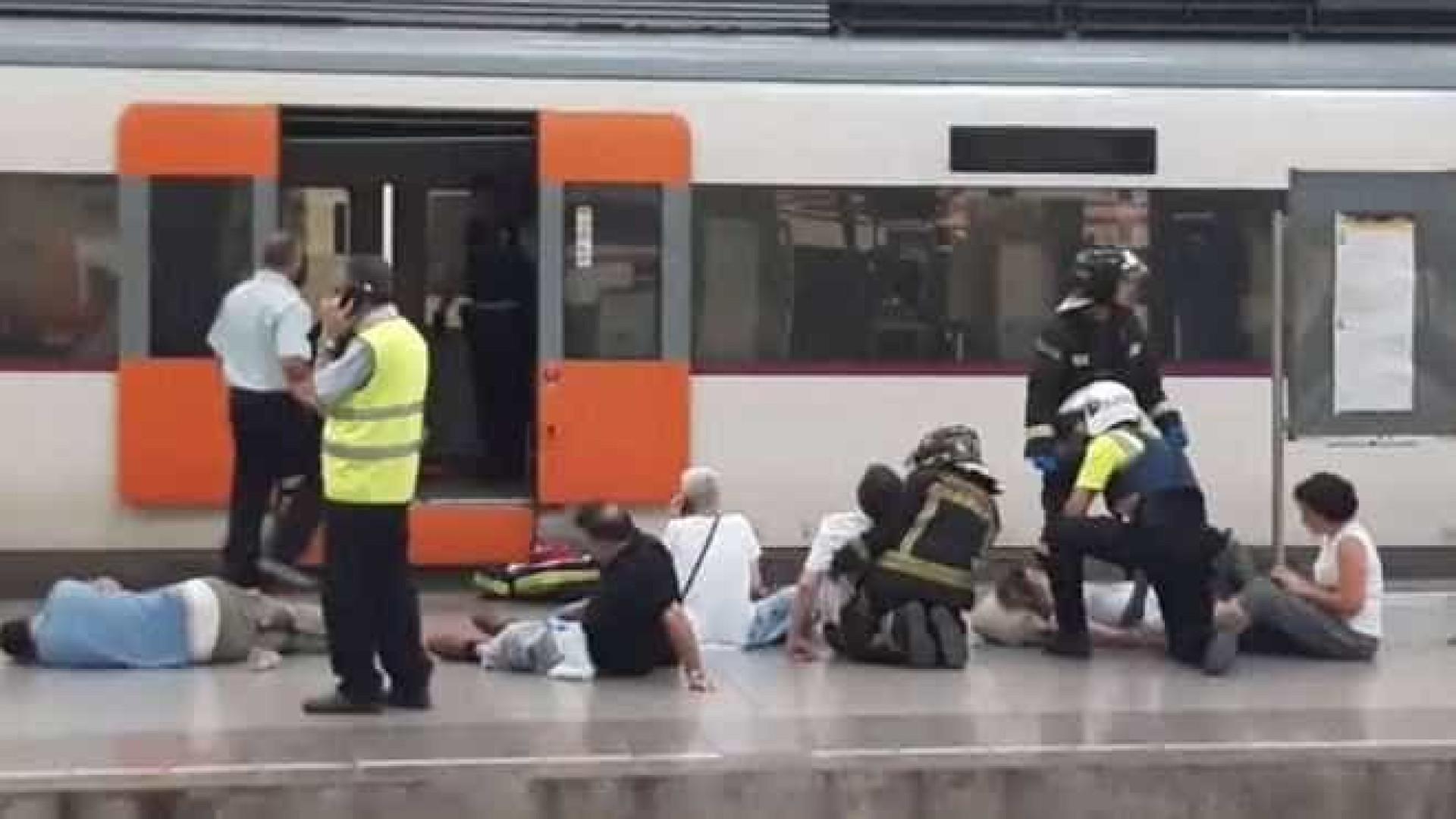 Pelo menos 20 feridos em acidente ferroviário em Barcelona