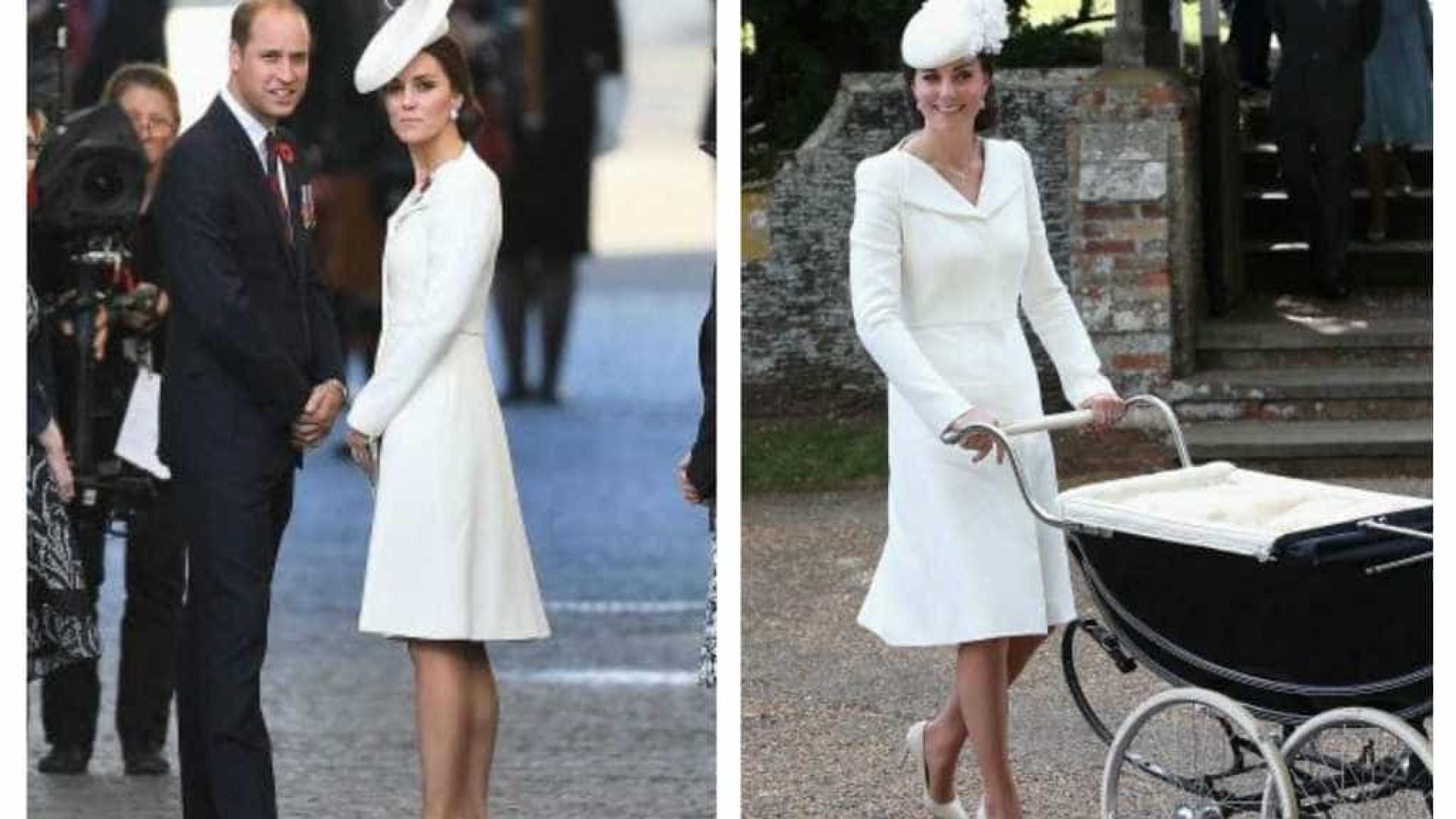 Dois anos depois, Kate Middleton recicla vestido do batizado de Charlotte