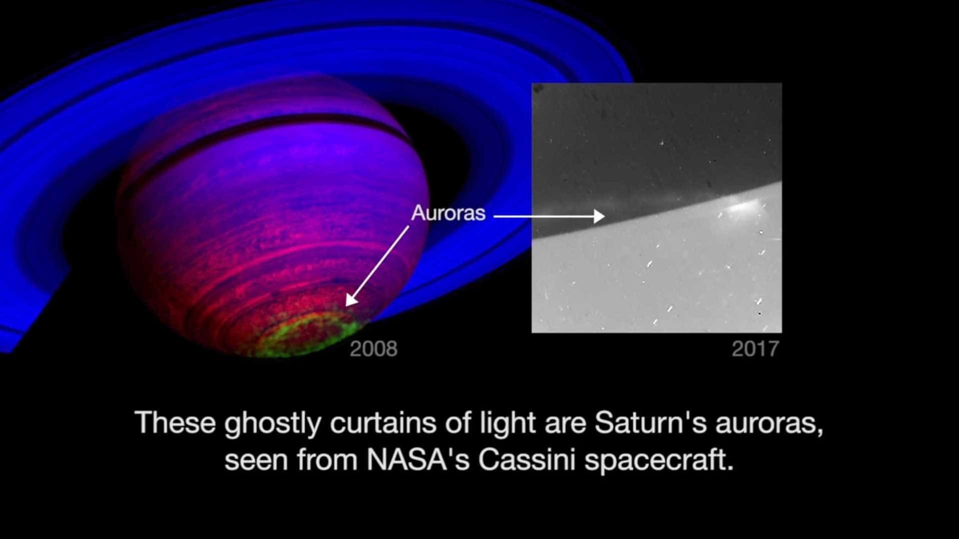 Saturno também tem auroras. NASA partilha vídeo a mostrar o fenómeno