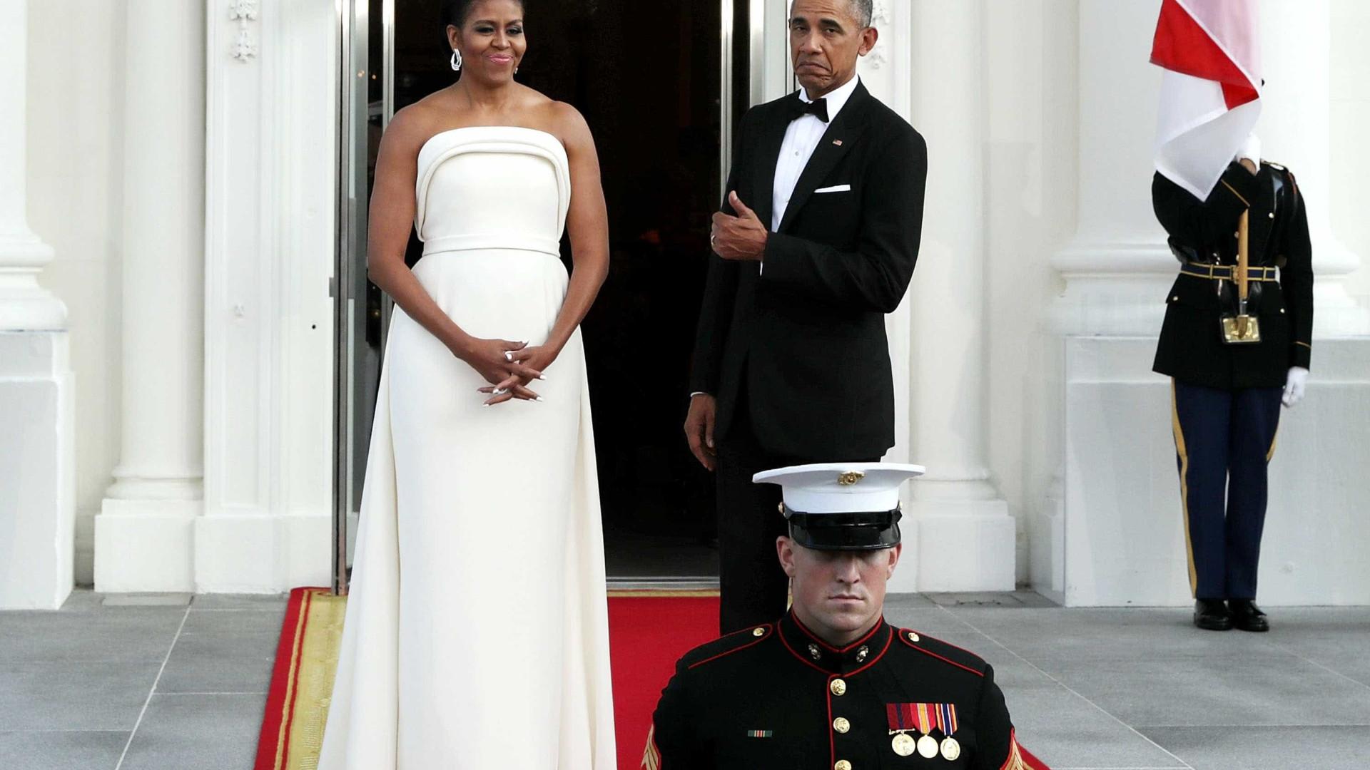 A mensagem de parabéns de Michelle Obama ao marido