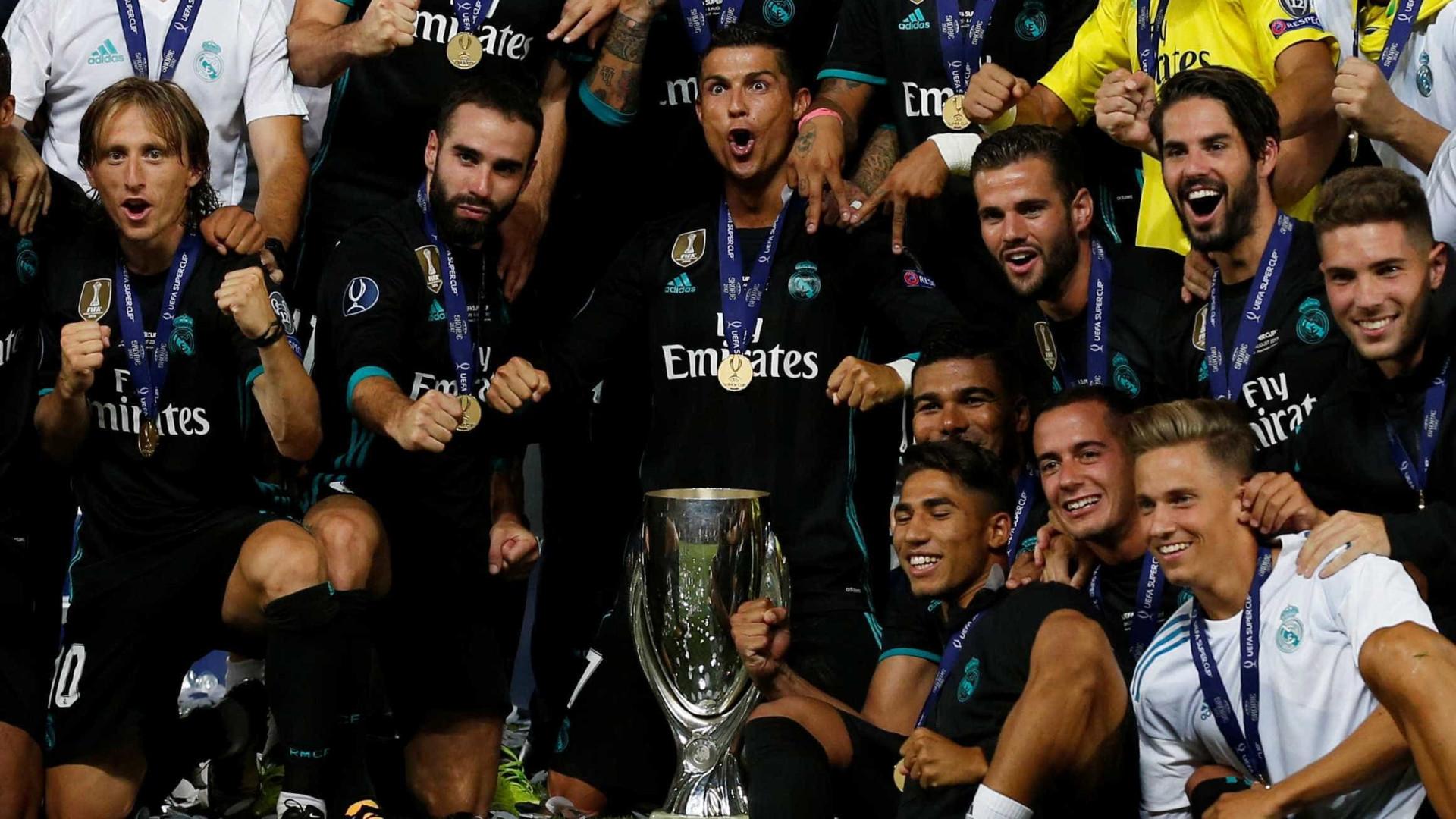 Real Madrid vence Manchester United e conquista Supertaça Europeia