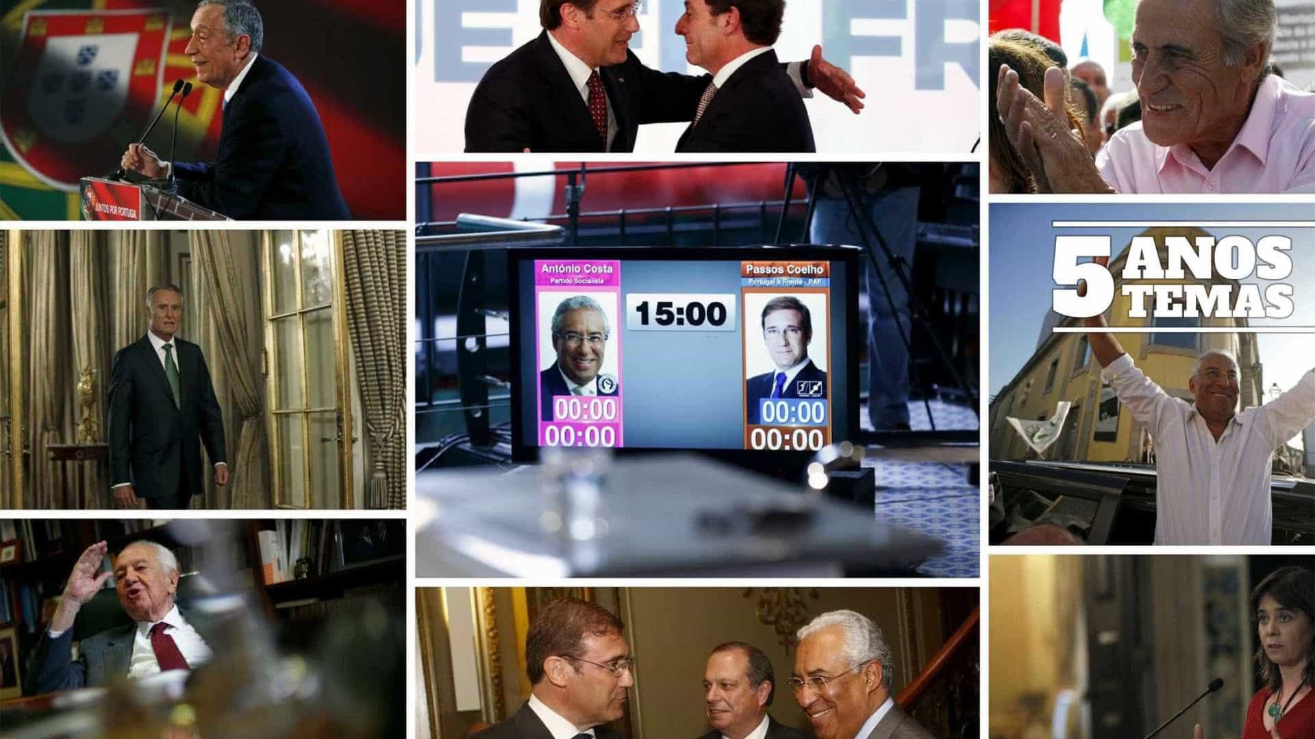 Cinco anos, cinco temas. Os momentos-chave da política lusa