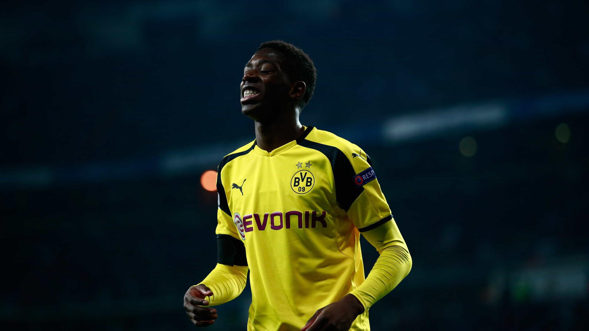 """Borussia Dortmund diz que Dembélé continua suspenso """"até novas ordens"""""""