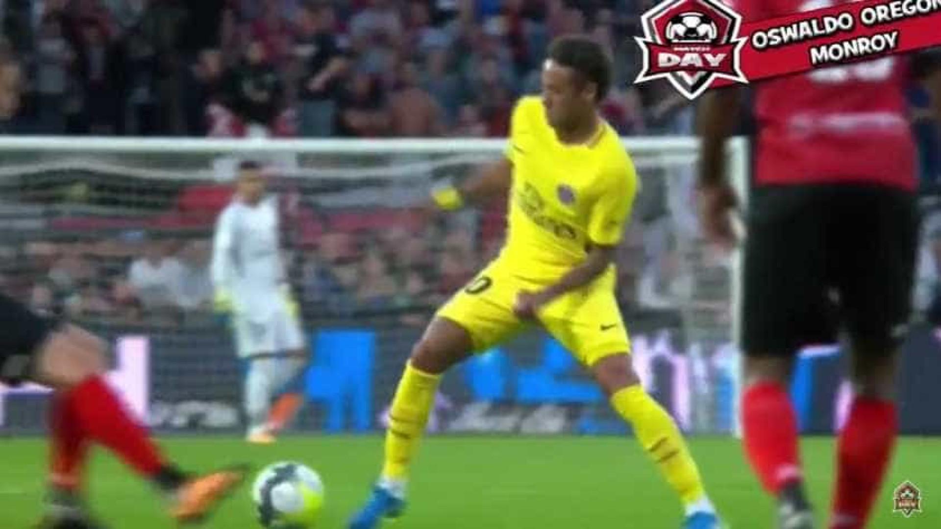 Neymar já dá 'baile' nos relvados franceses