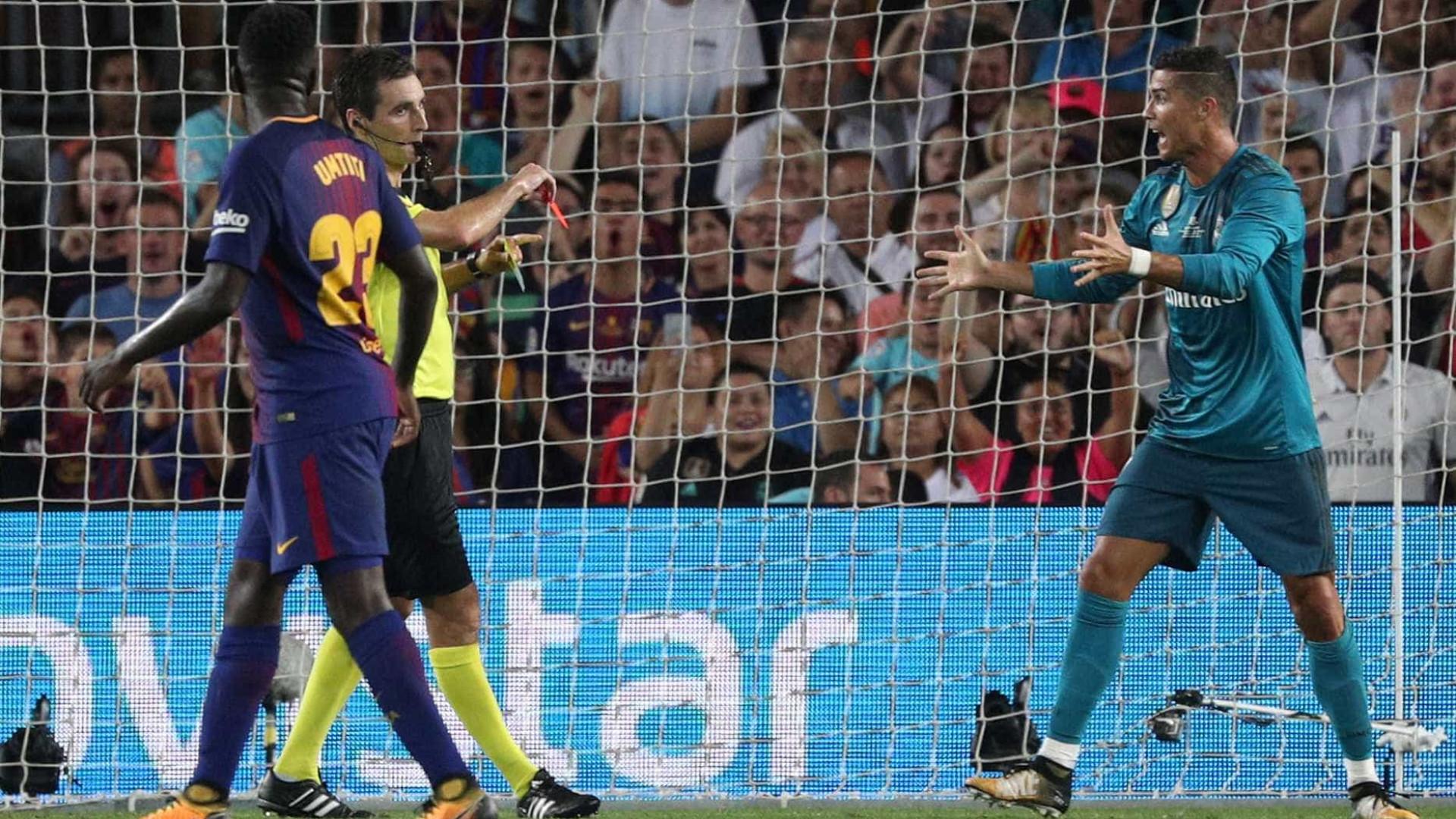 Ronaldo entra, marca e é expulso na primeira mão da Supertaça