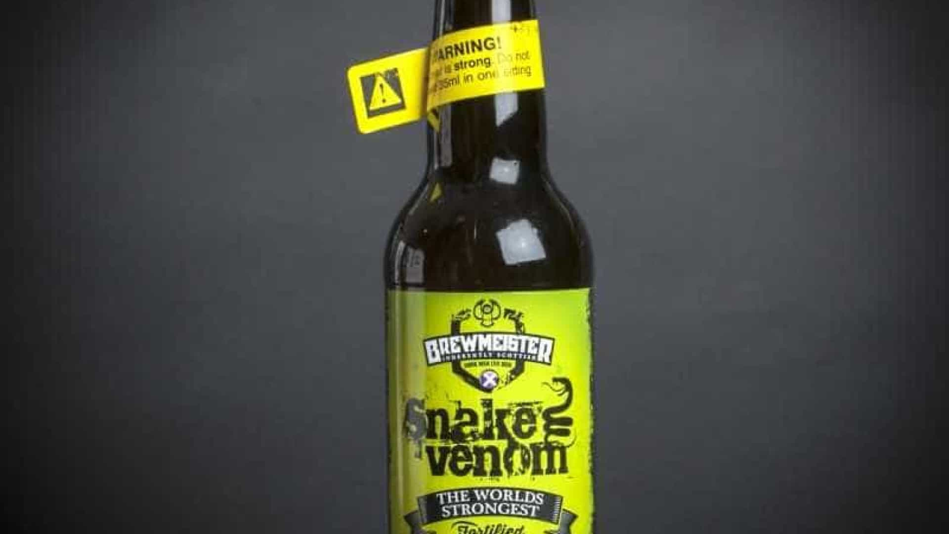 Snake Venom, a cerveja que tem mais álcool do que o whisky