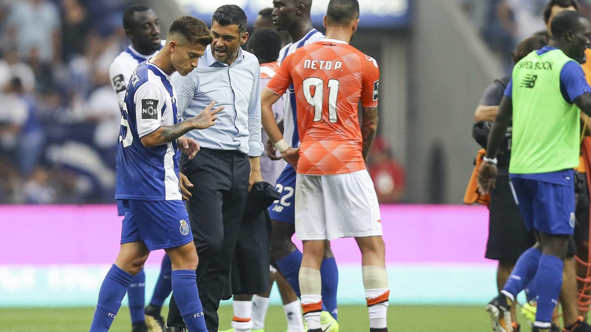 Otávio falha treino do FC Porto por lesão na coxa direita