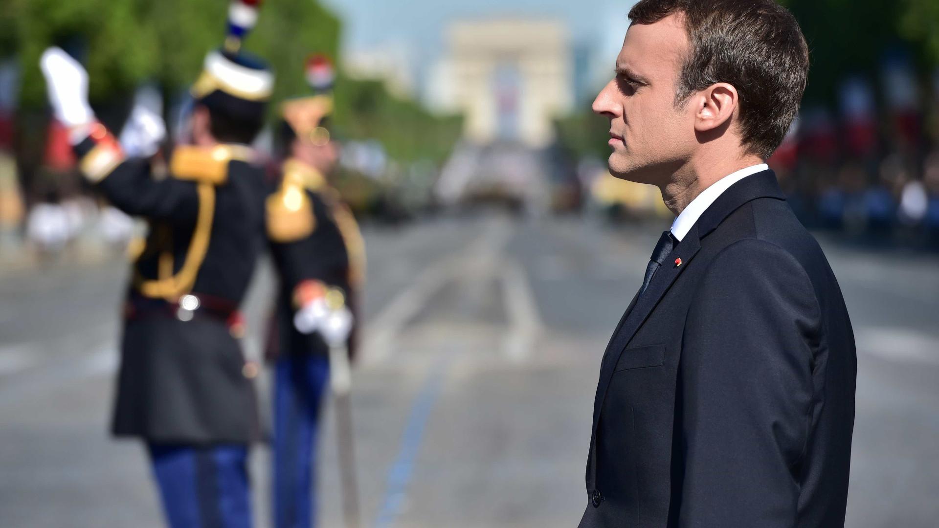Em 3 meses, Macron gasta cerca de R$ 97 mil com maquiador