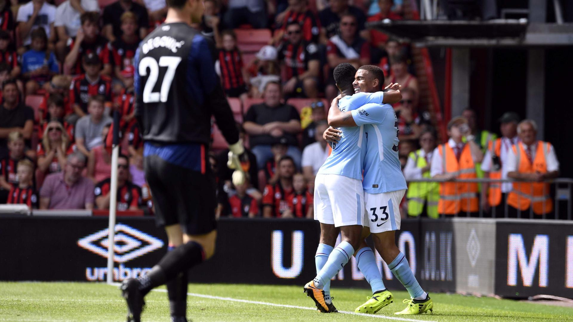 Manchester City vence Bournemouth nos acréscimos