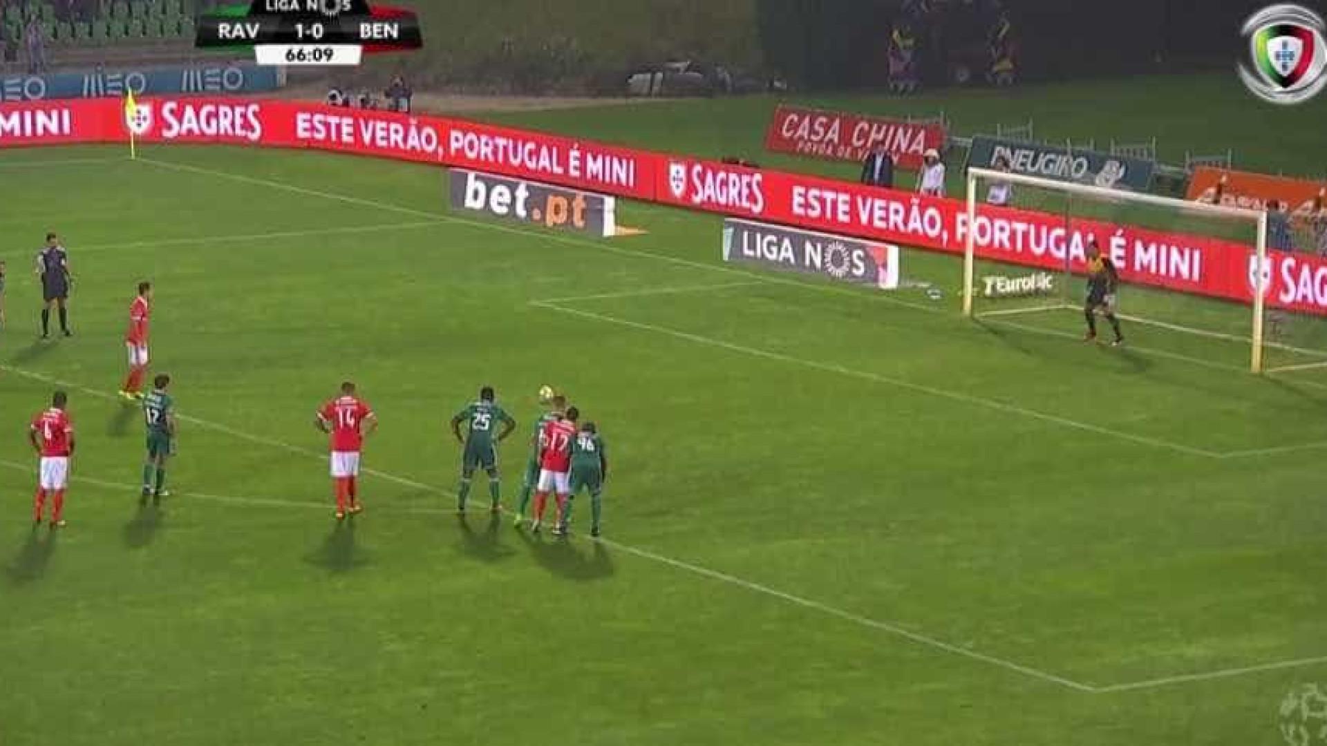 Grande penalidade de Jonas restabelece o empate em Vila do Conde