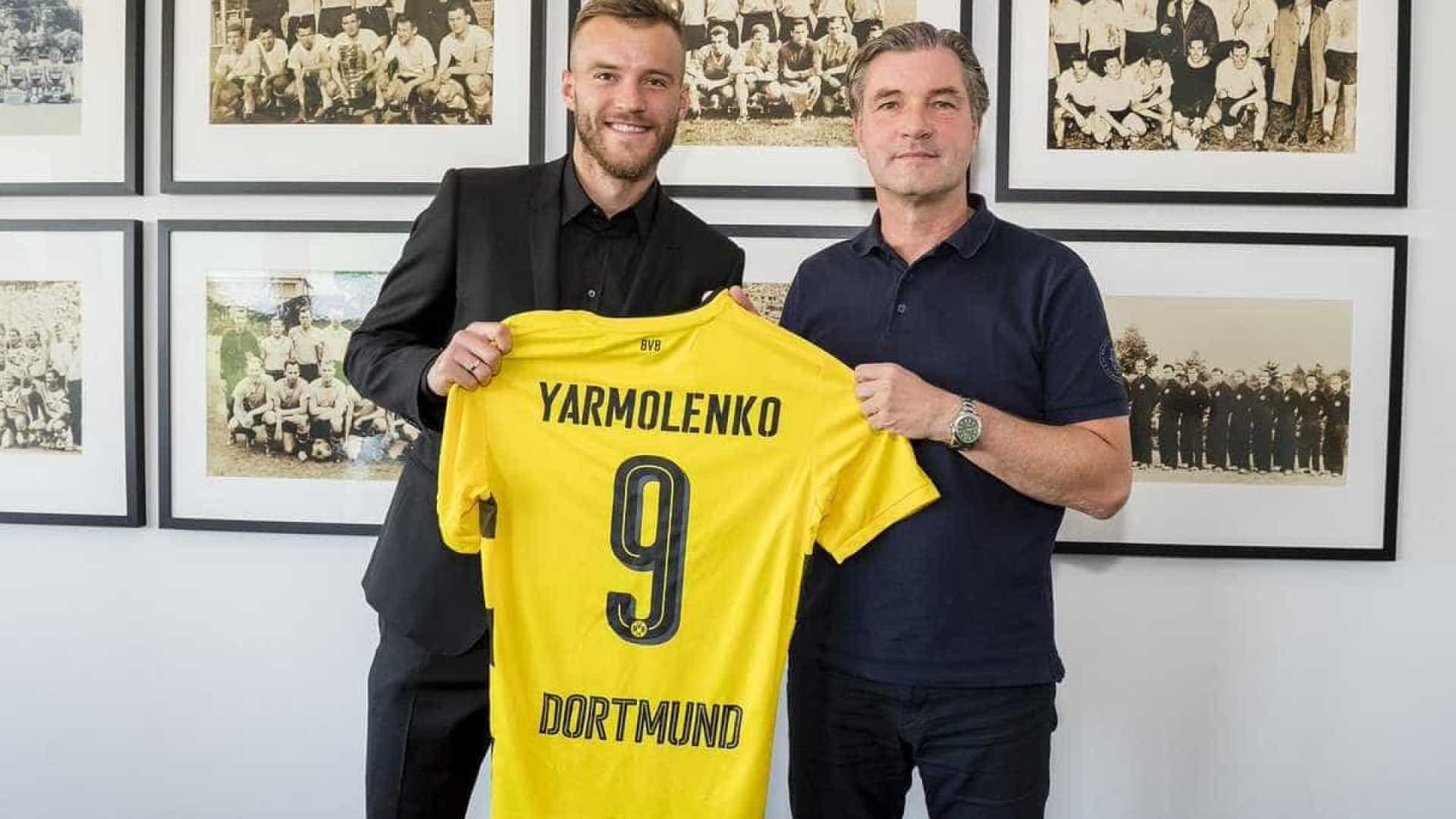 Borussia Dortmund anuncia contratação de Yarmolenko do Dínamo Kiev