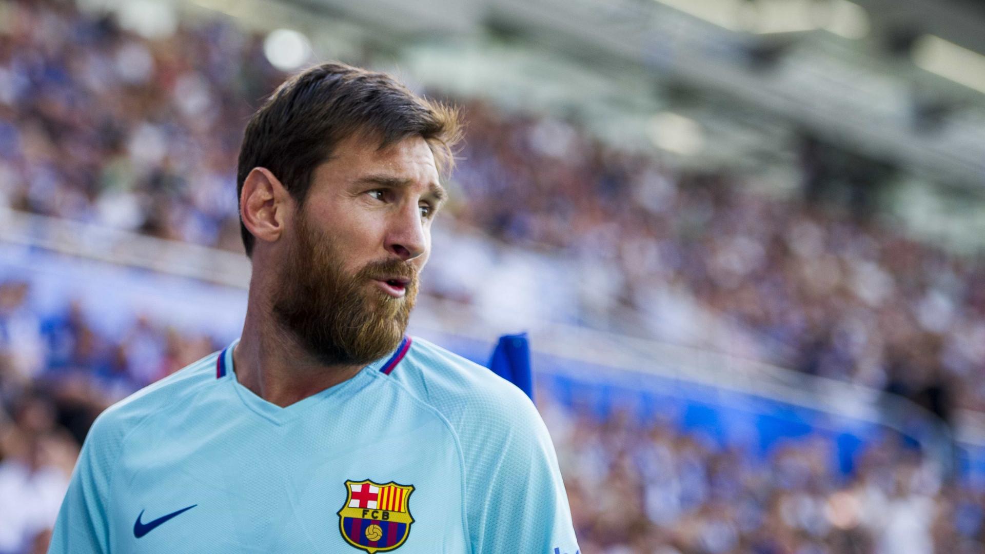 Lionel Messi assinala Dia Mundial do Cancro da Mama