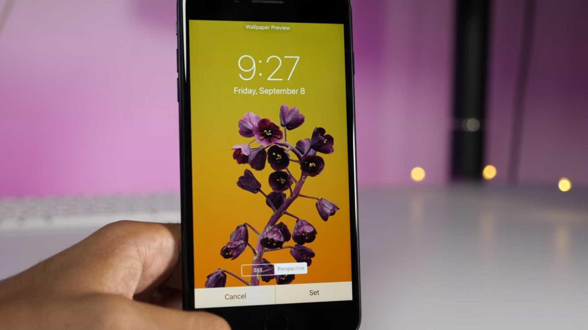 Eis os novos fundos de ecrã do próximo iPhone