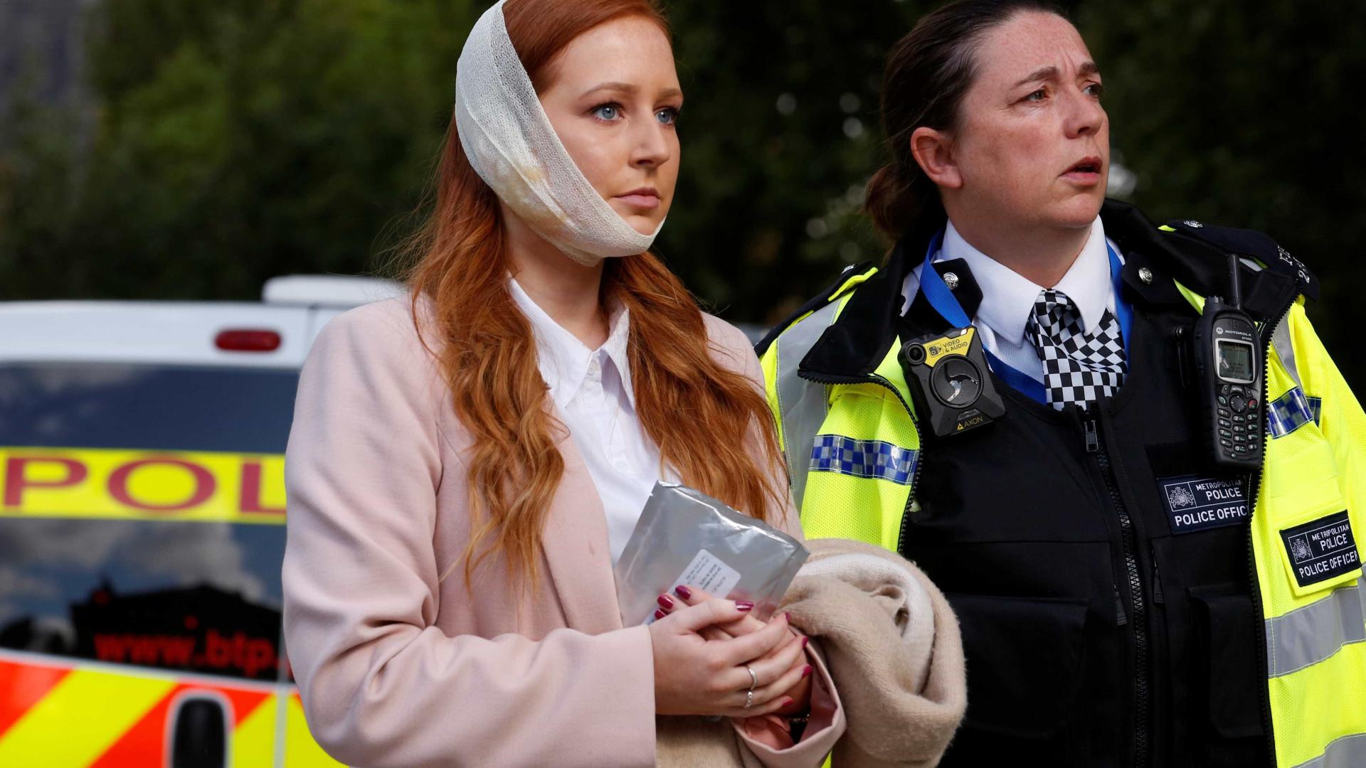 """Robyn viu passageiros a correr """"cobertos de sangue"""" em Londres"""