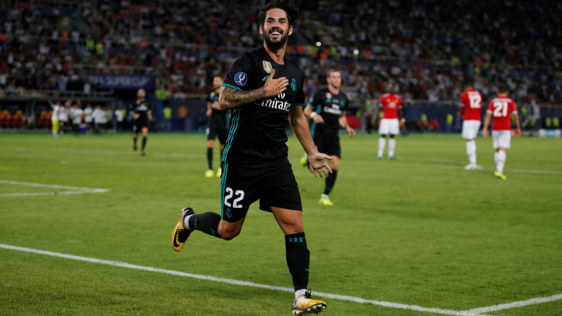 Real Madrid anuncia renovação de contrato com Isco