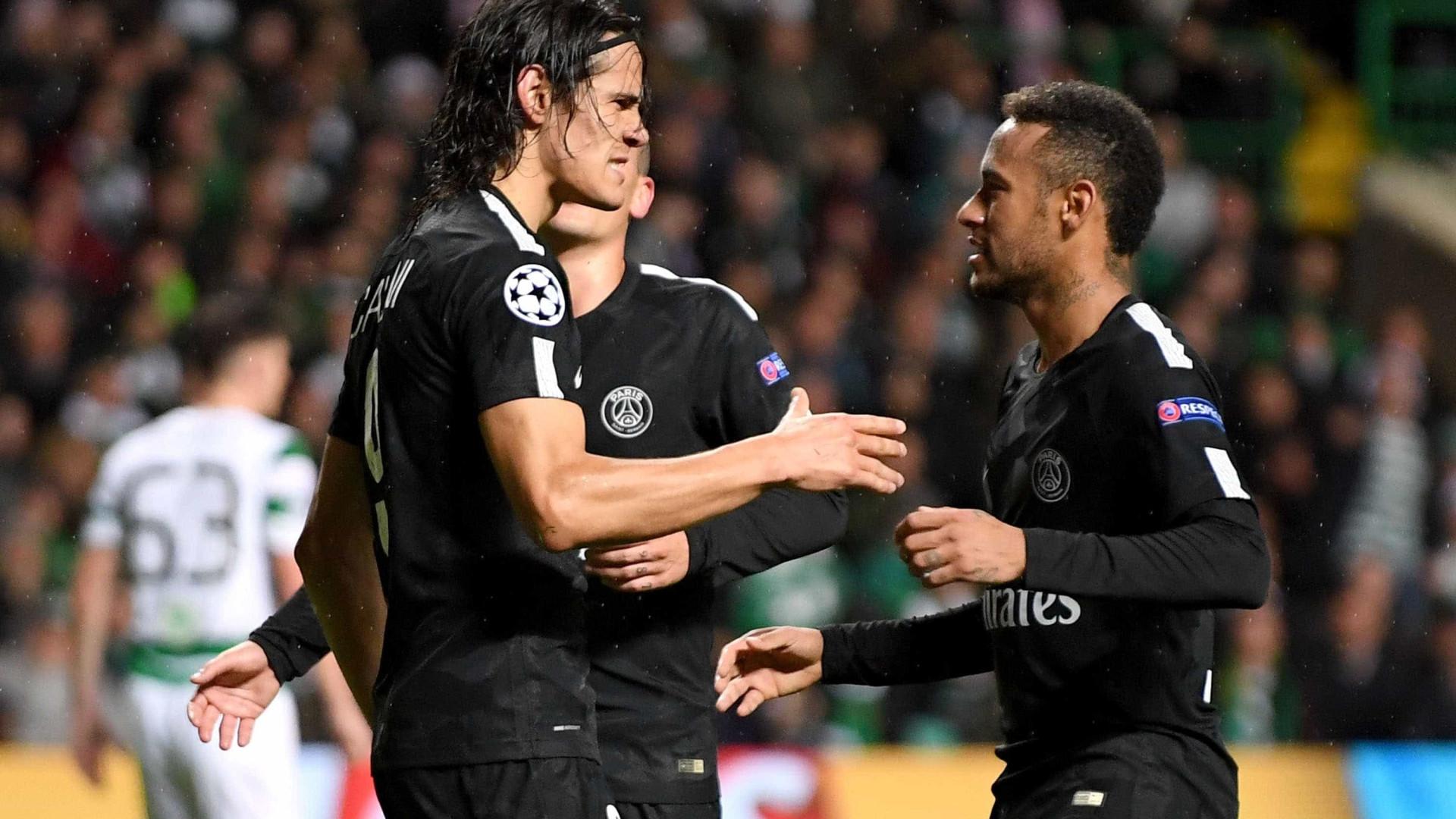 Prémio salarial pode ser o motivo para a 'zanga' entre Cavani e Neymar