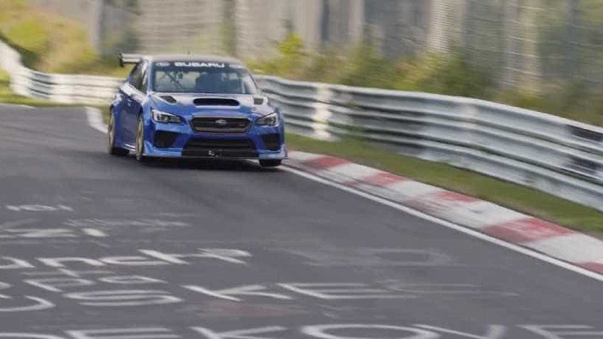 Subaru bate o recorde de carro de quatro portas mais veloz em Nurburgring