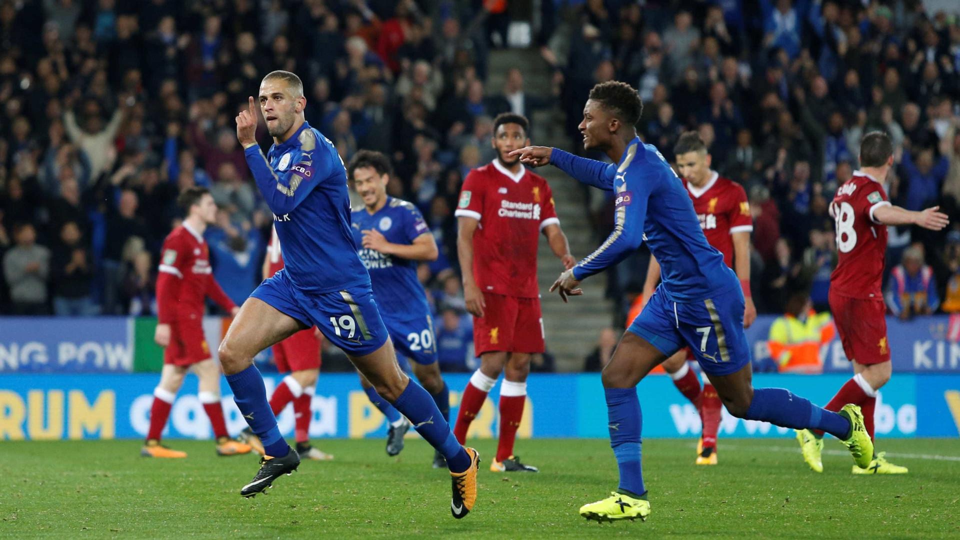 VÍDEO: Leicester elimina Liverpool da Taça da Liga com golaço de Slimani