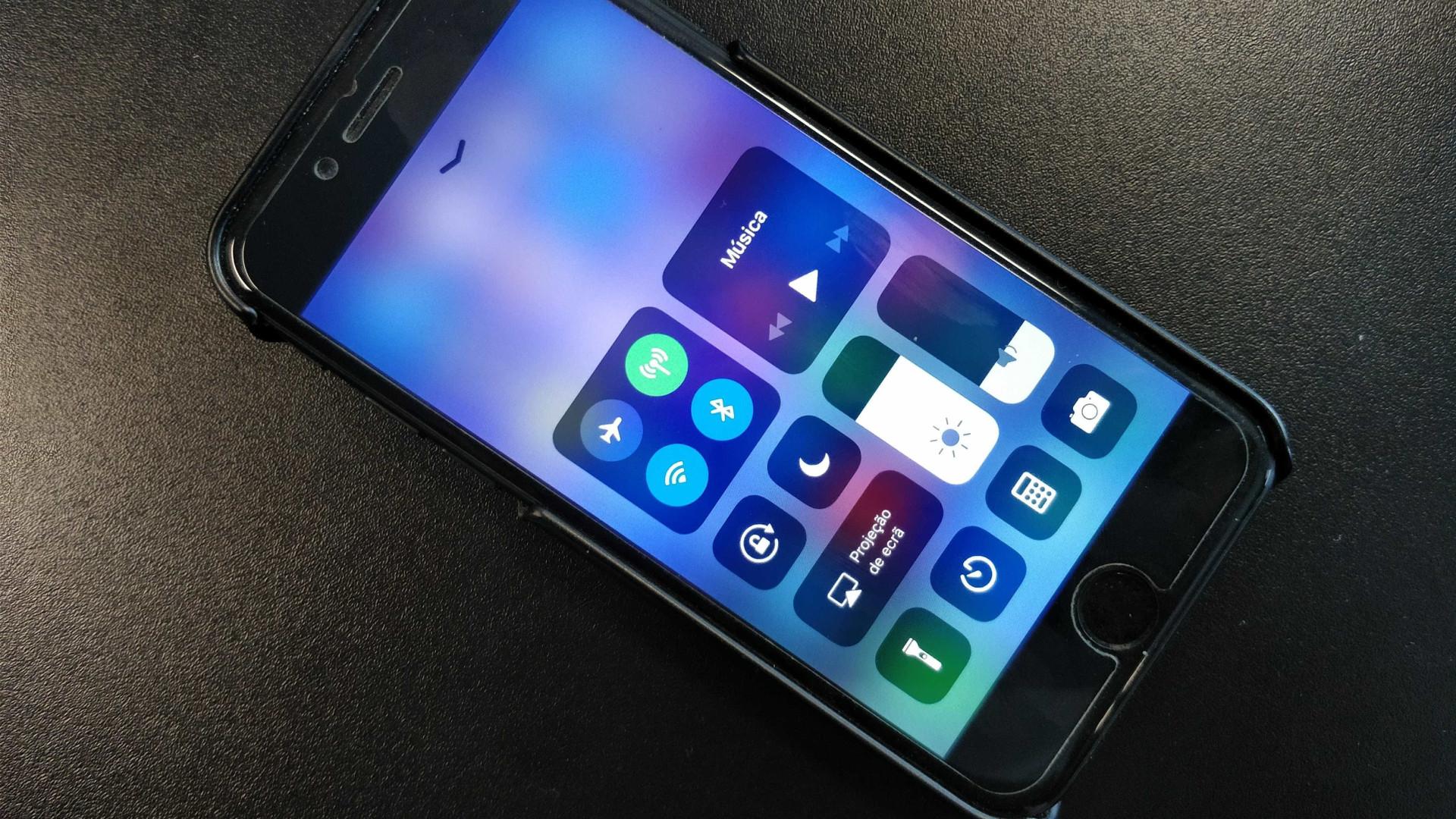 Há algo de errado com o novo Centro de Controlo do iPhone