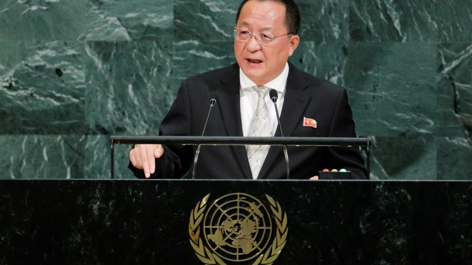"""Ataque contra os EUA é """"inevitável"""", diz ministro norte-coreano"""