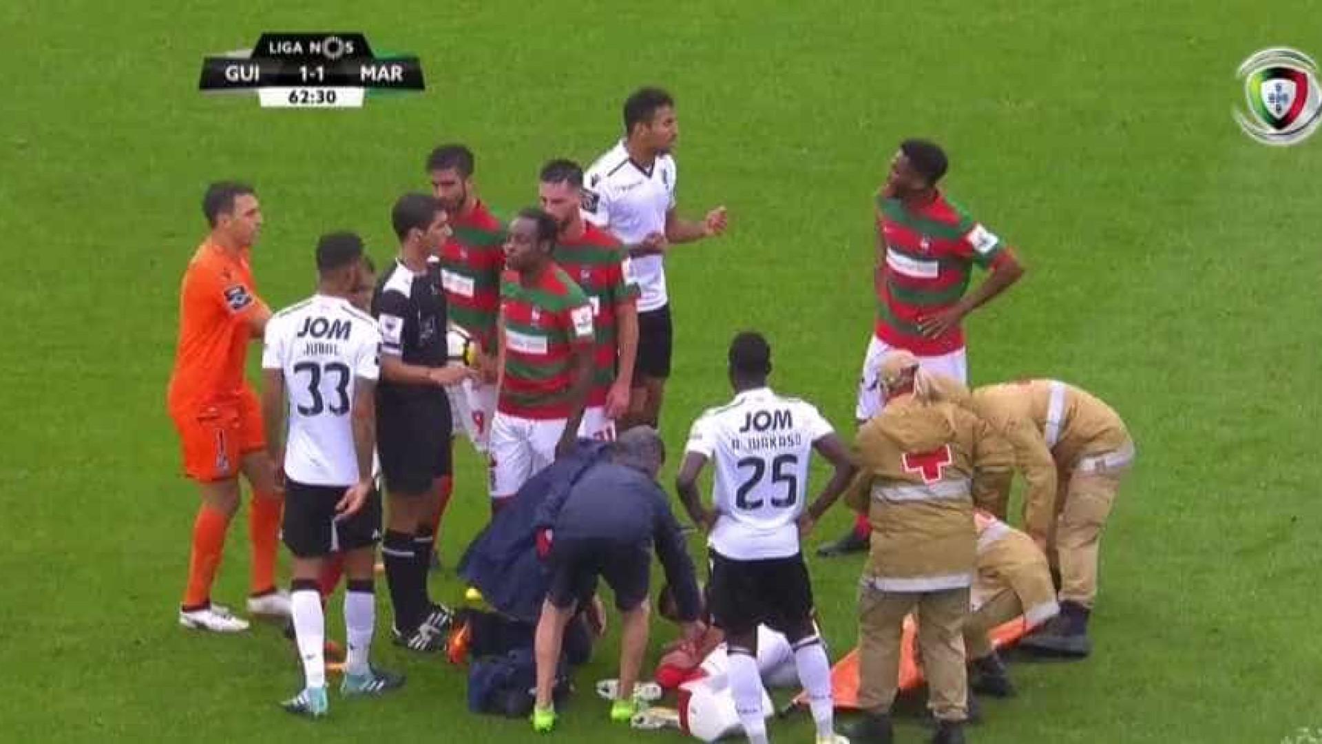 Relatório do Vitória SC-Marítimo revela diálogo picante entre Jubal e Zainadine