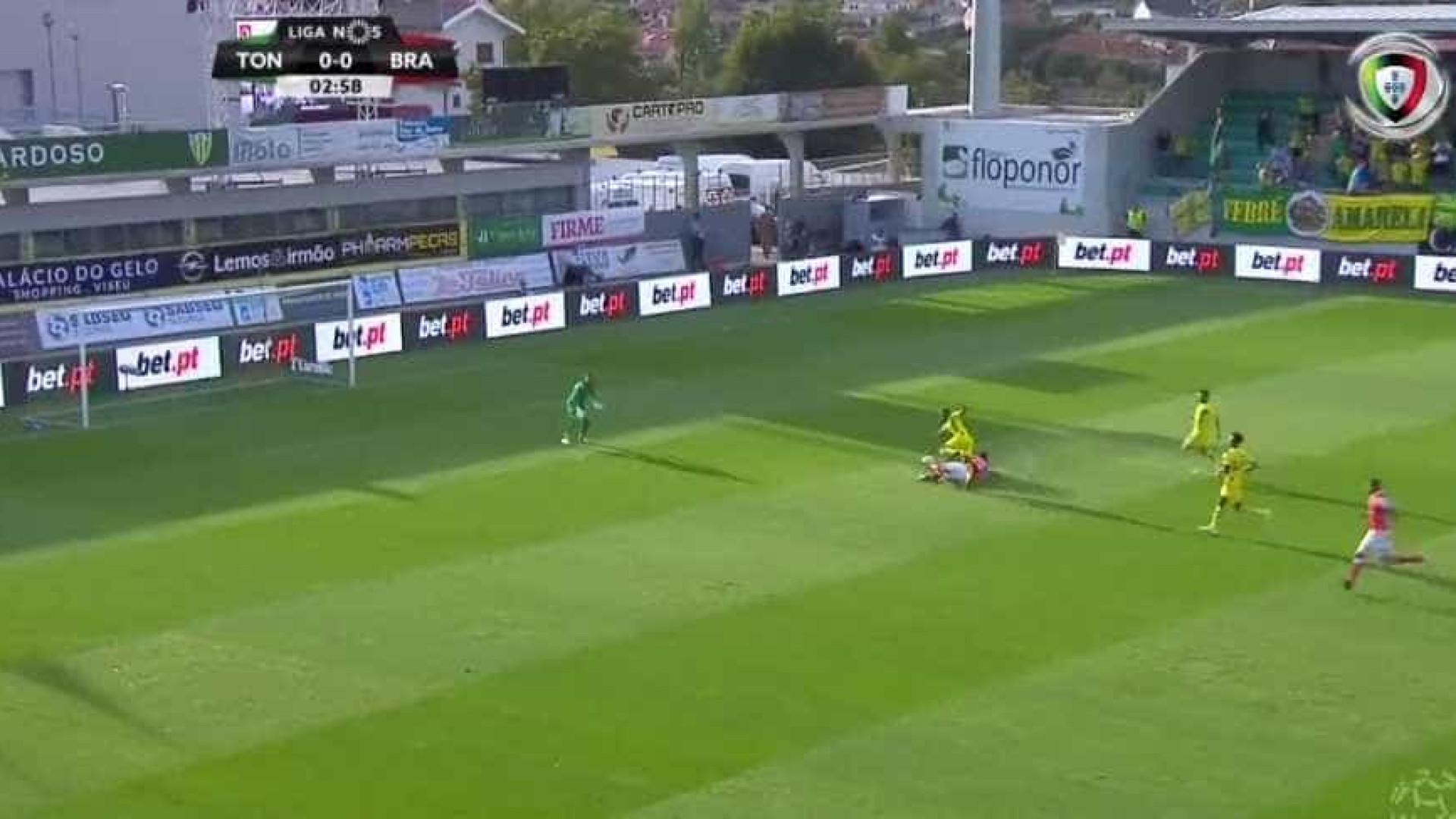 Braga vence em Tondela e aproxima-se do Marítimo