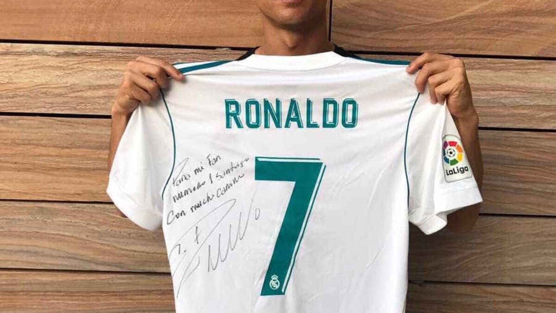 Cristiano Ronaldo envia mensagem à família de Santiago