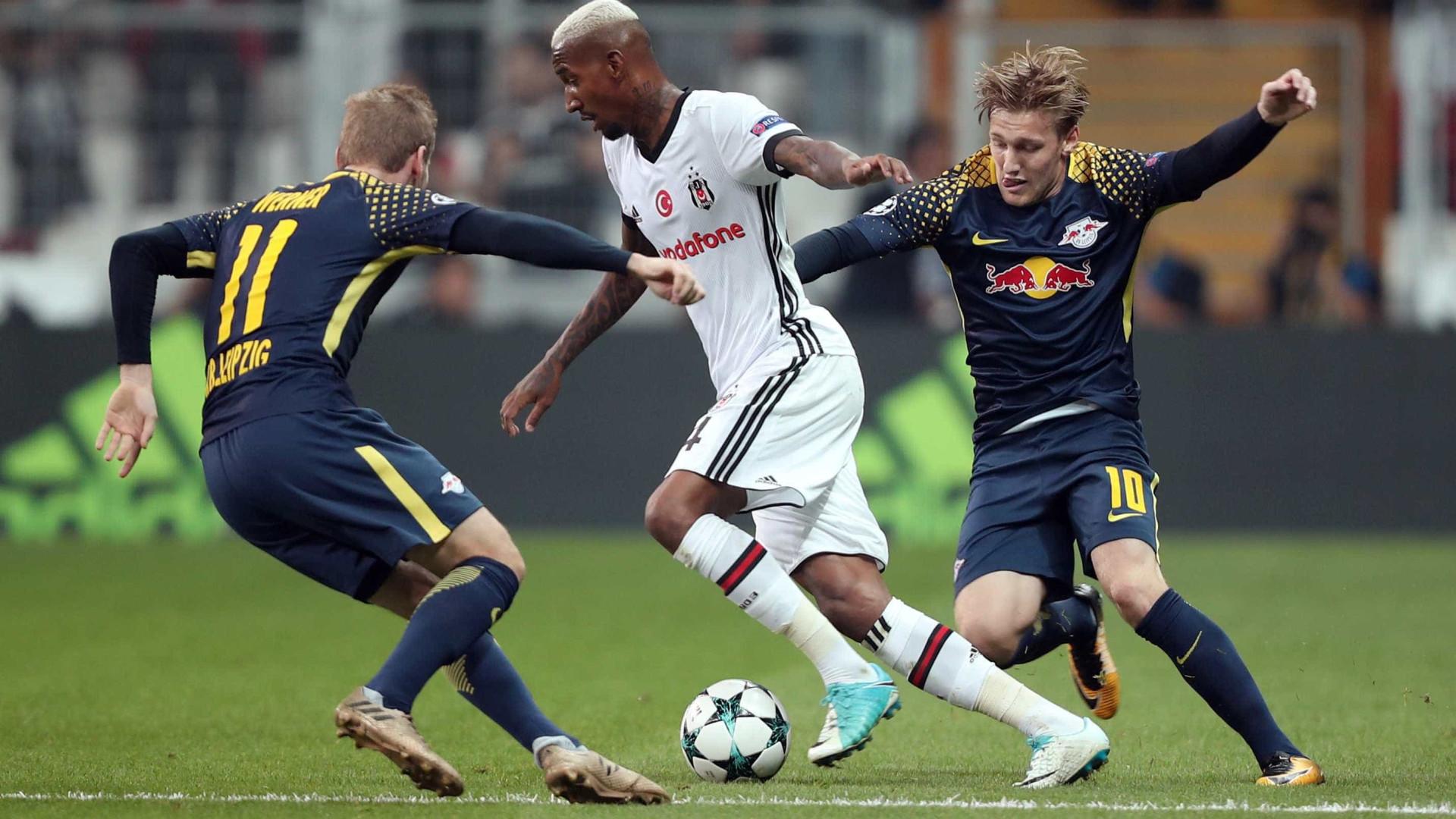 Besiktas-Leipzig: Werner teve de ser substituído devido... ao barulho