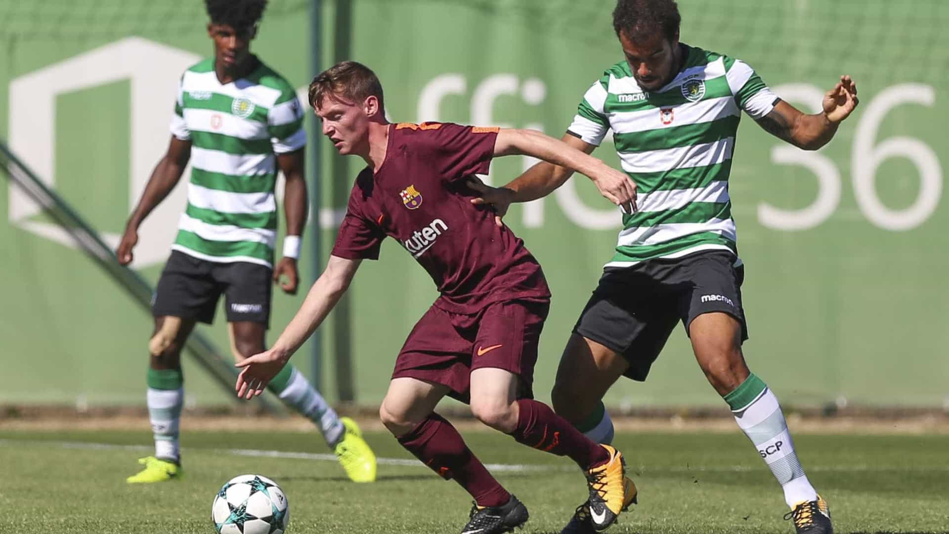 Sporting perde com Barcelona e continua sem vencer na Youth League