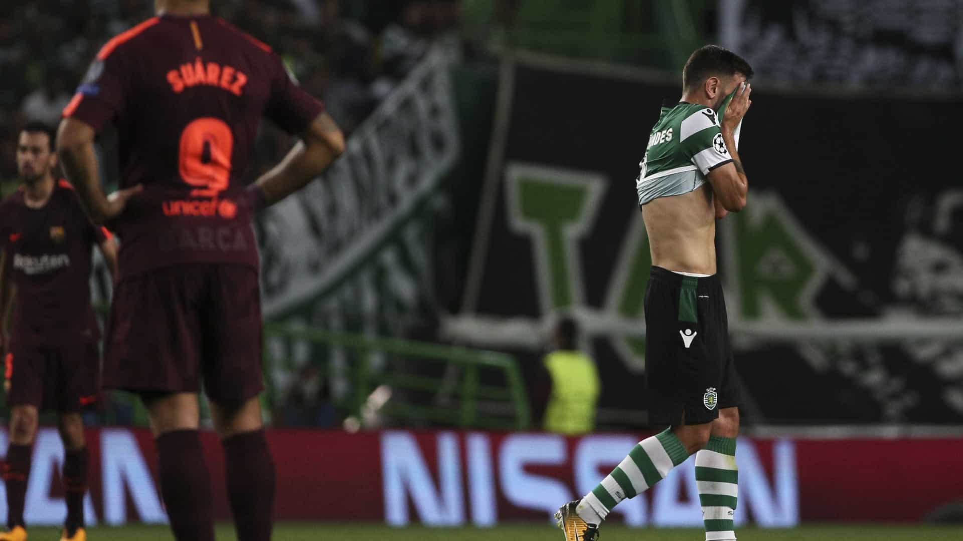 Sporting perde com Barcelona mas continua tudo em aberto — Liga dos Campeões