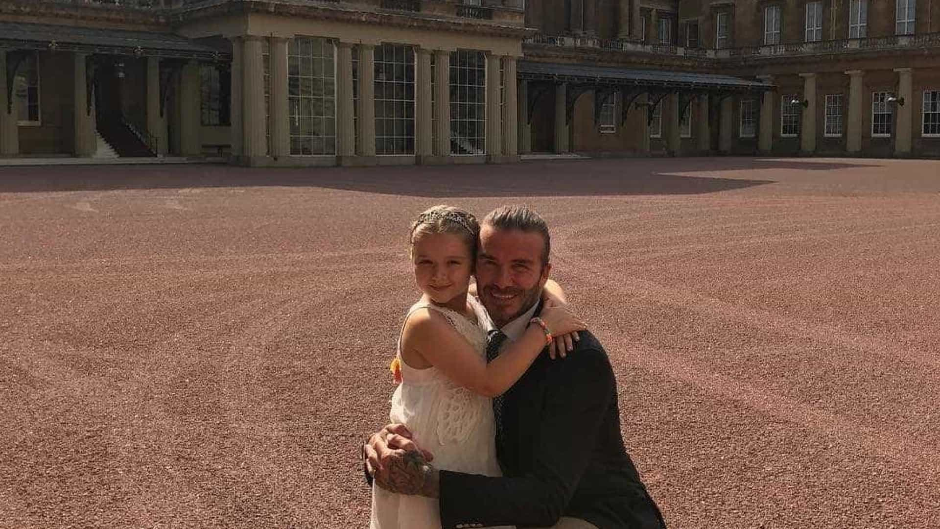 A 'princesa' Beckham está de parabéns. Harper completa sete anos