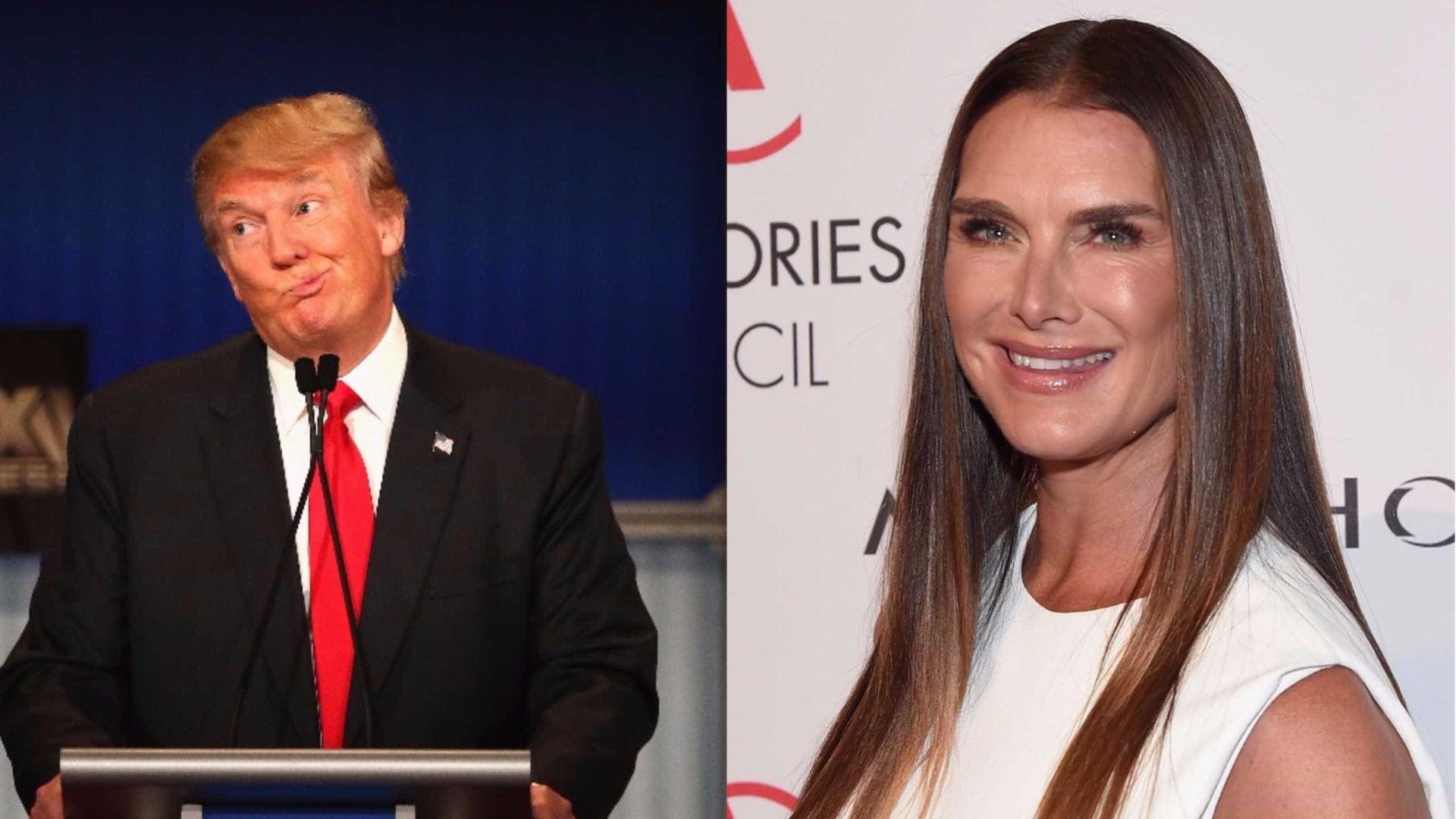 Brooke Shields fala da (infeliz) tentativa de sedução de Donald Trump