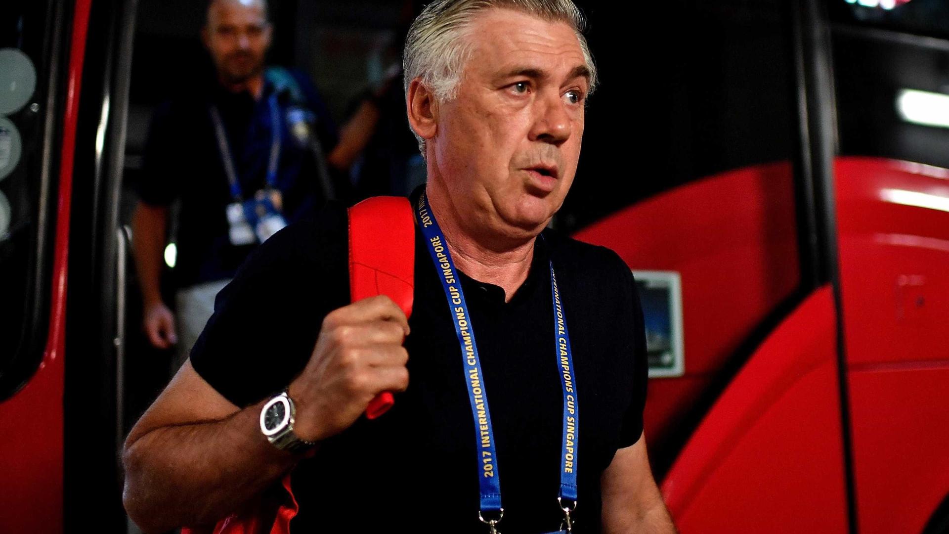 Ancelotti 'torce o nariz' à seleção italiana