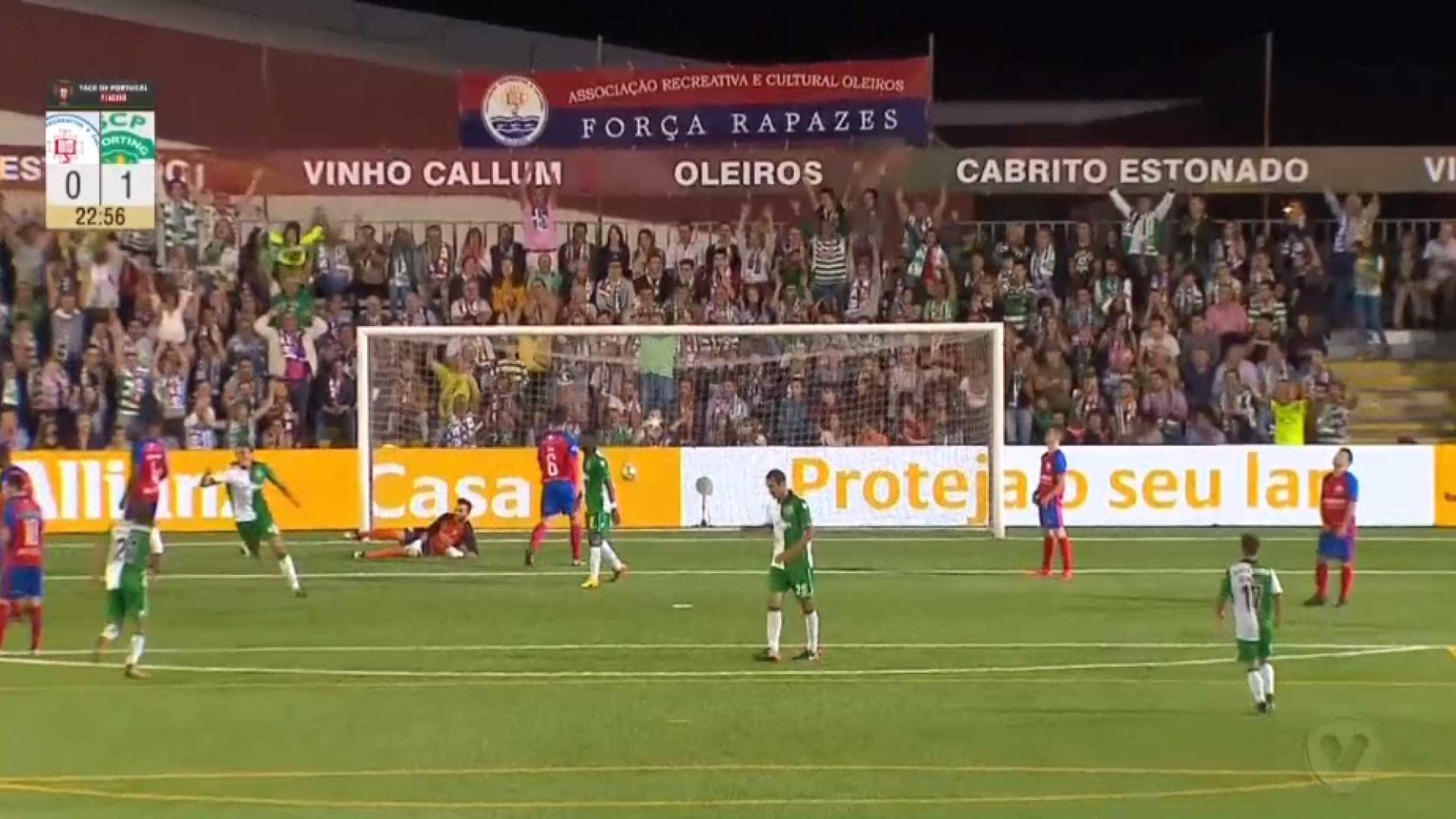 João Palhinha insistiu e abriu o marcador do Oleiros-Sporting